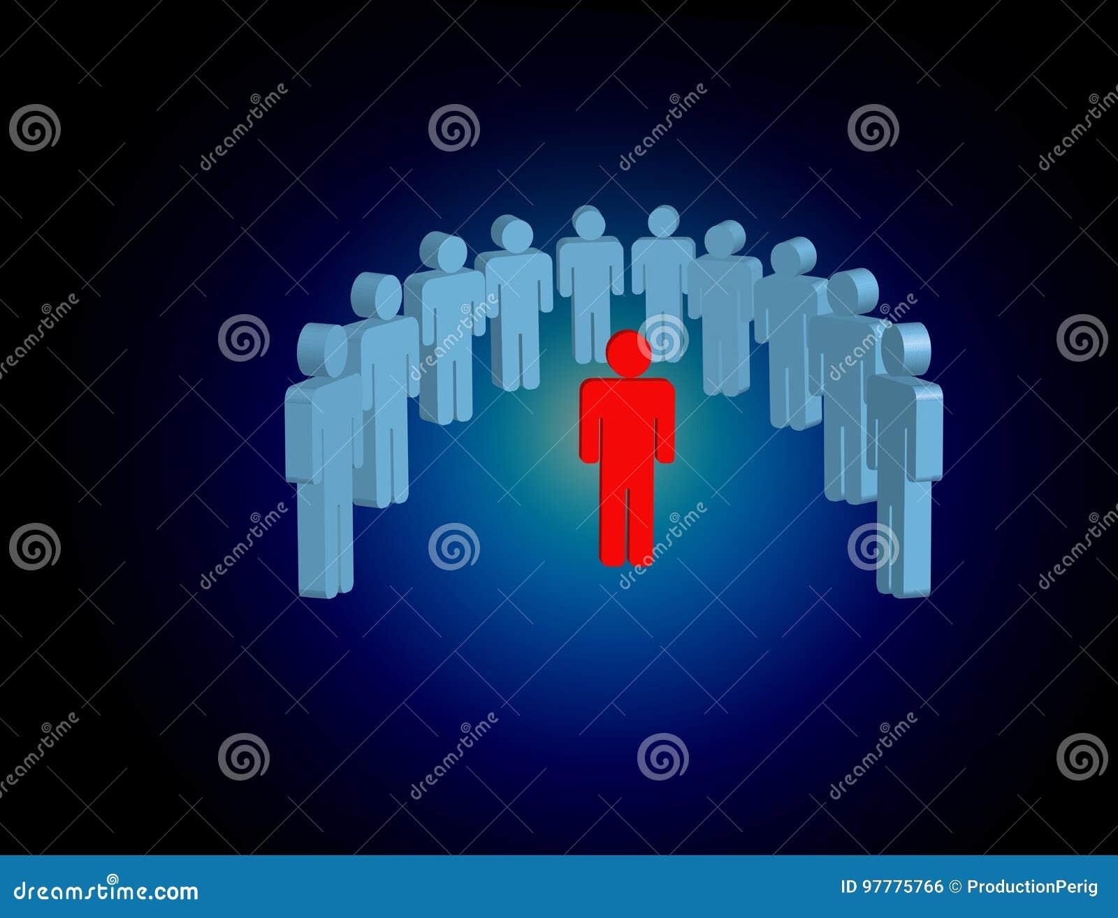 Intruso en un grupo de gente de la red - estafa del negocio y del contacto