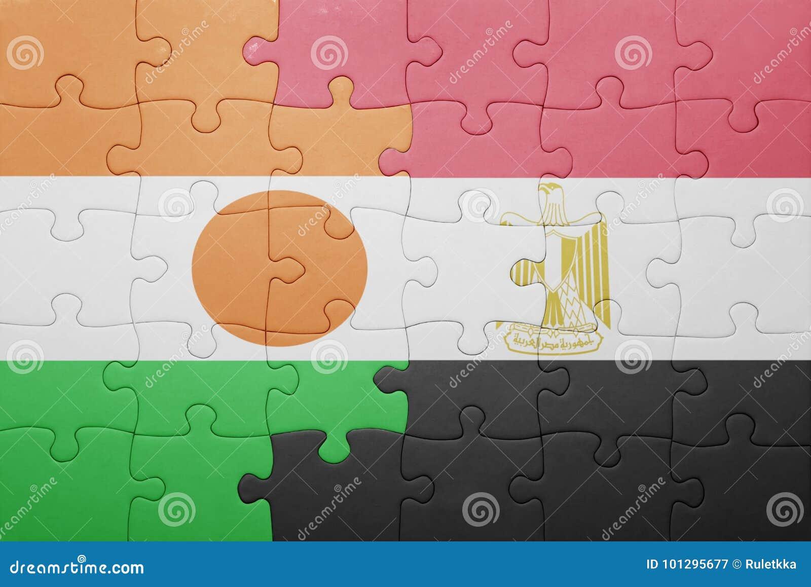 Intryguje z flaga państowowa Niger i Egypt