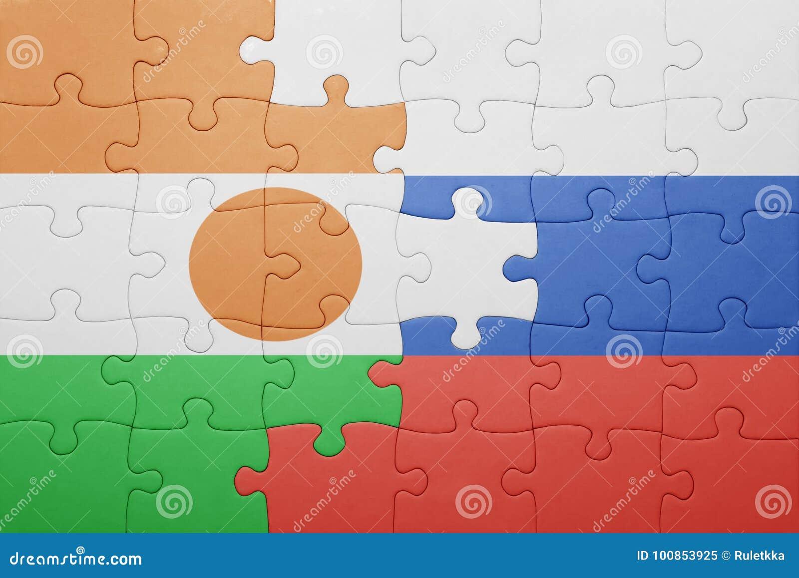 Intryguje z flaga państowowa Russia i Niger