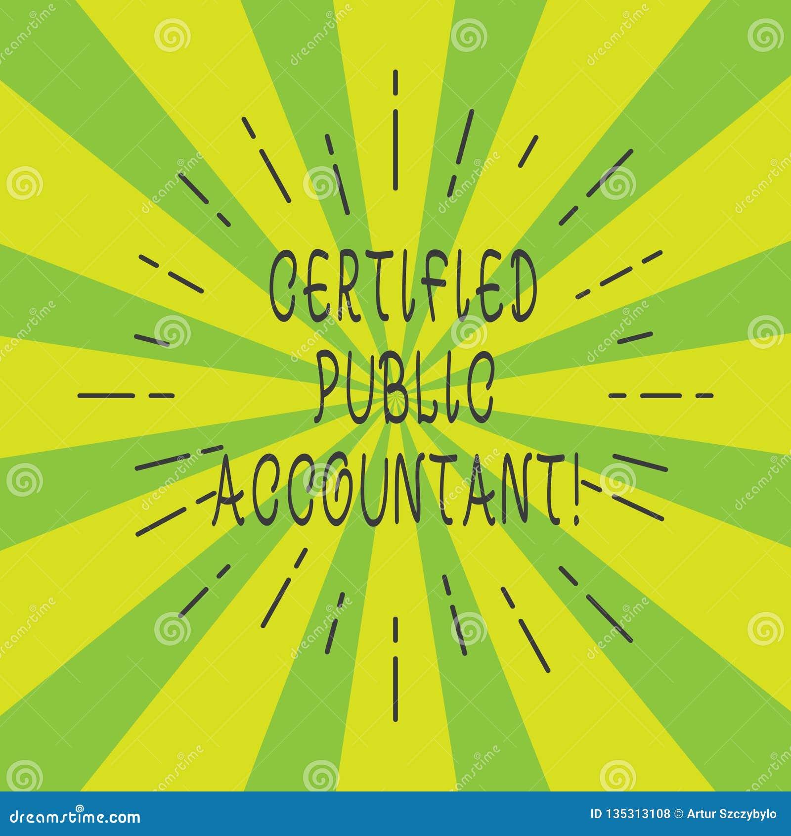 Intygad offentlig revisor för handskrifttext Ackrediterad yrkesmässig kropp för begrepp betydelse av den tunna strålen för reviso