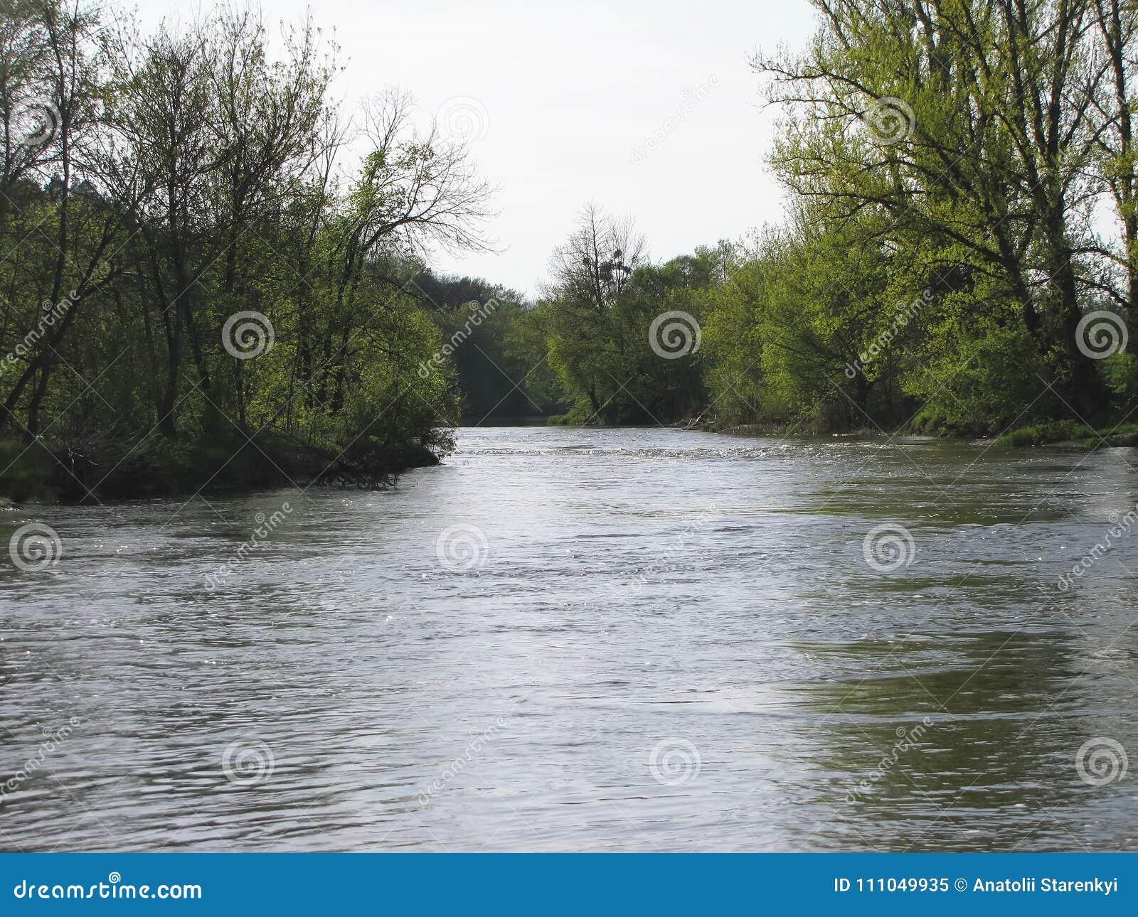 Inundación de la primavera Ocultado debajo de la isla del agua