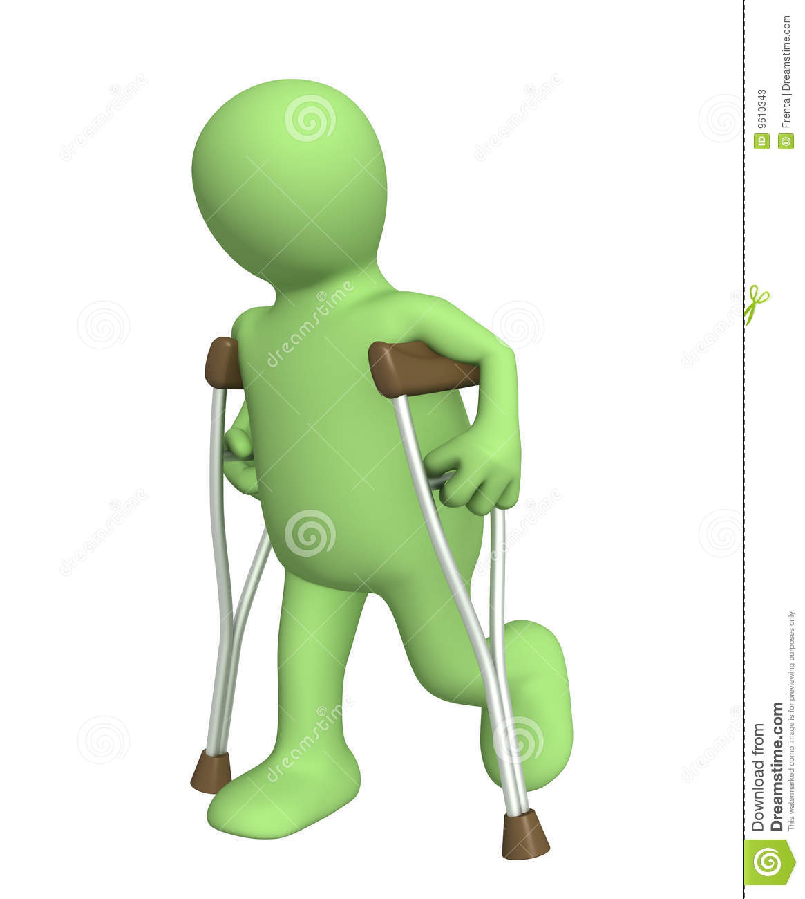Invalid with crutches stock photos image 9610343