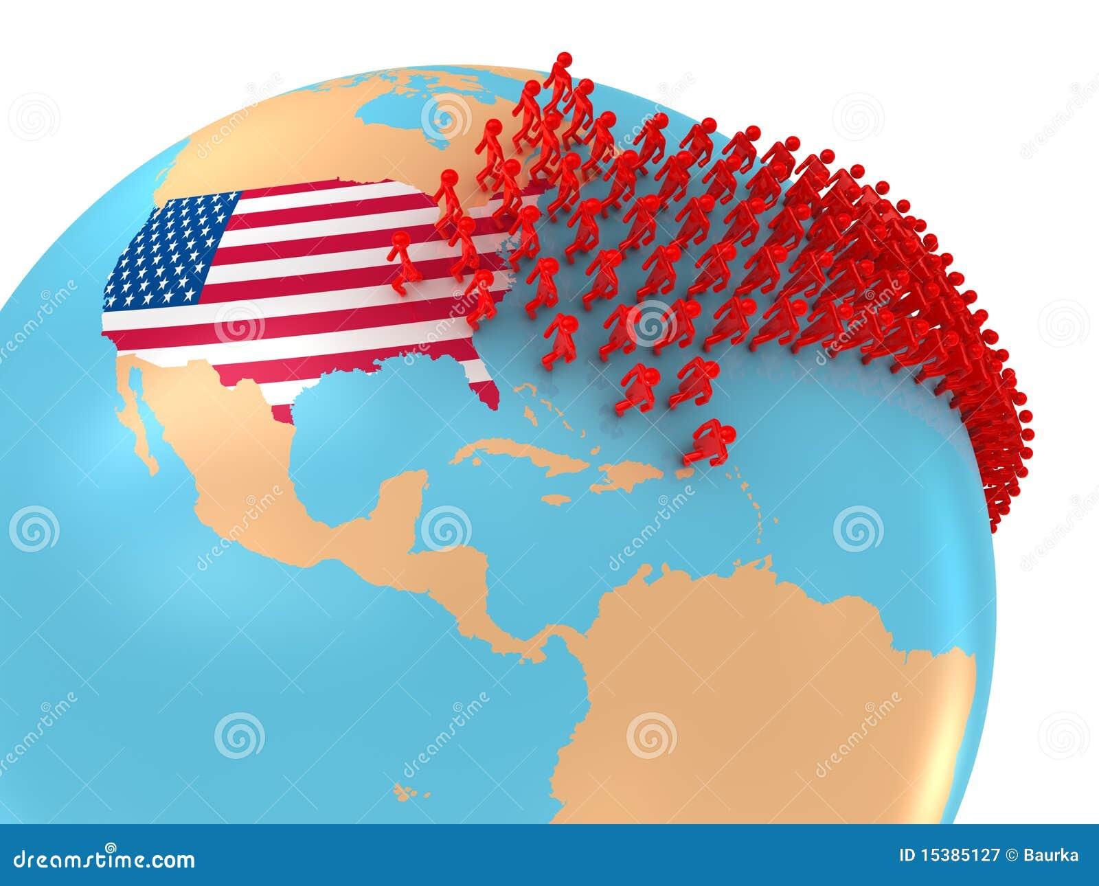 Antal Väskor Till Usa : Invandring till usa royaltyfri fotografi bild