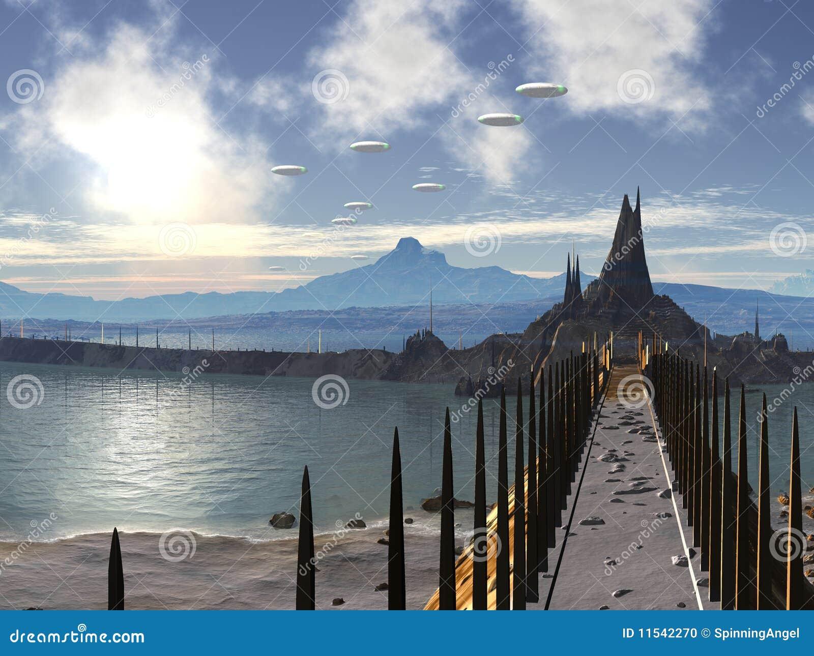 Invasione del UFO della città del silicone