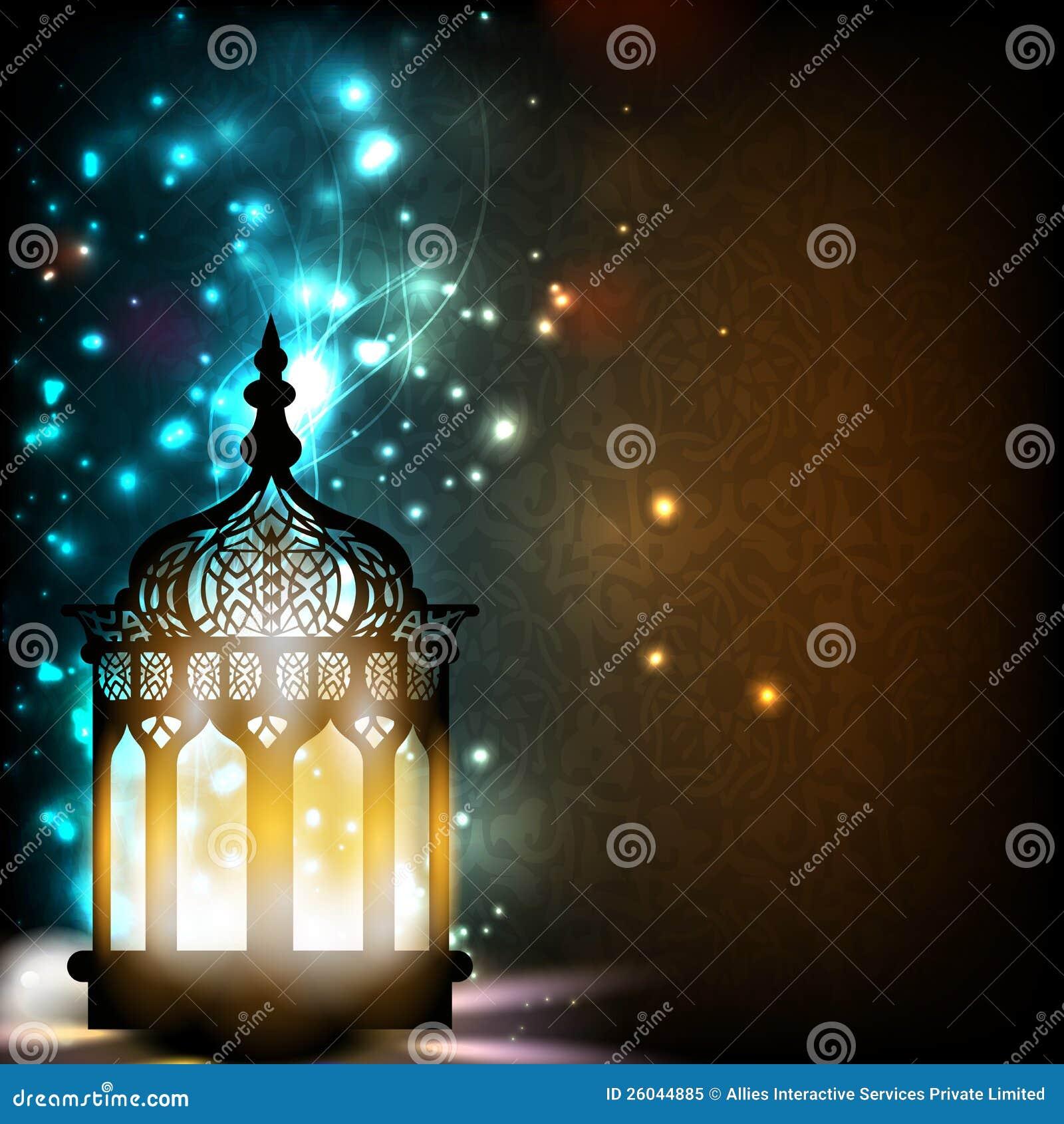 Invecklad arabisk lampa med lampor.