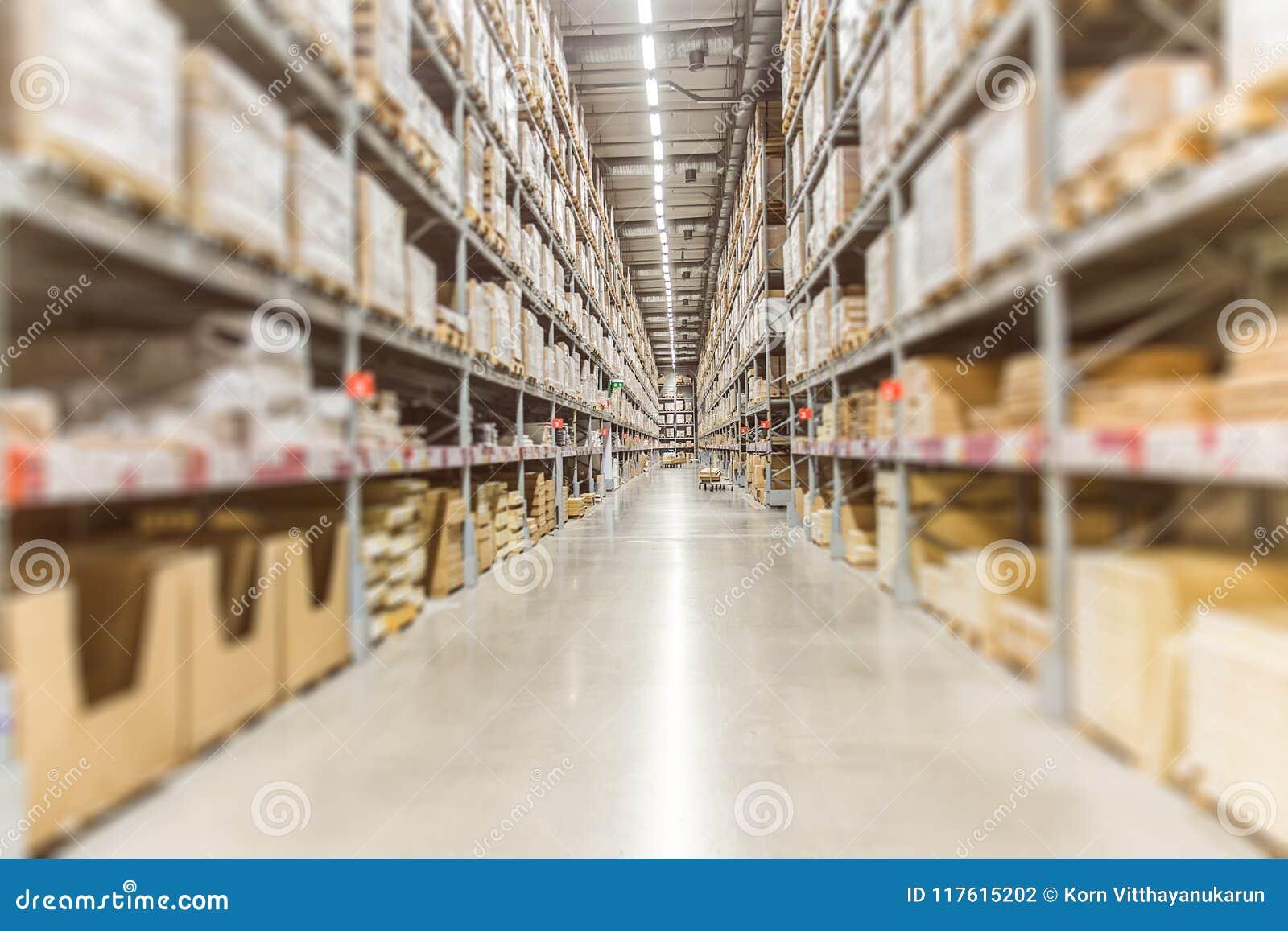 Inventario grande Acción de las mercancías de Warehouse para el envío logístico