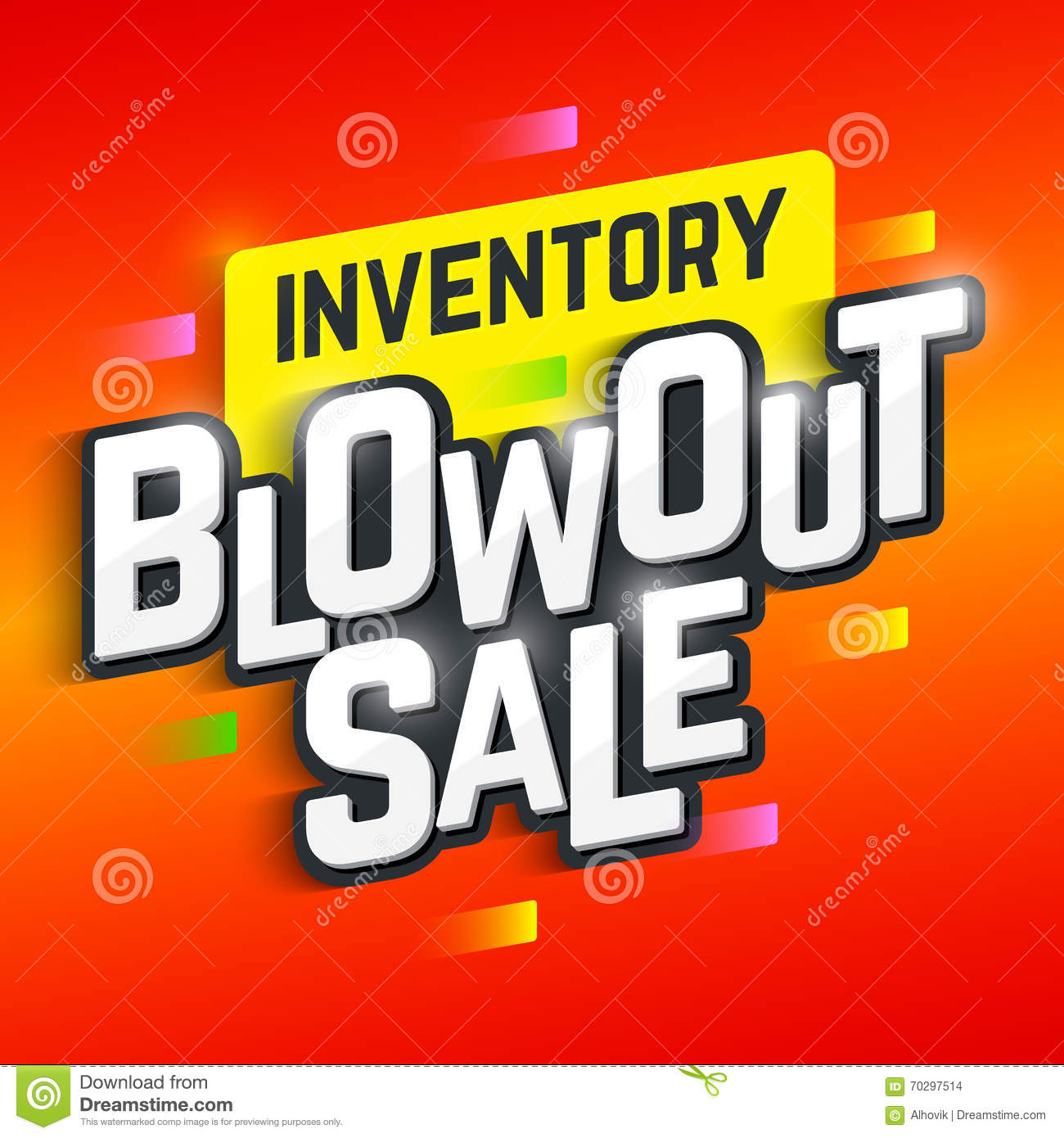 Inventory Blowout Sale Poster Stock Vector Image 70297514