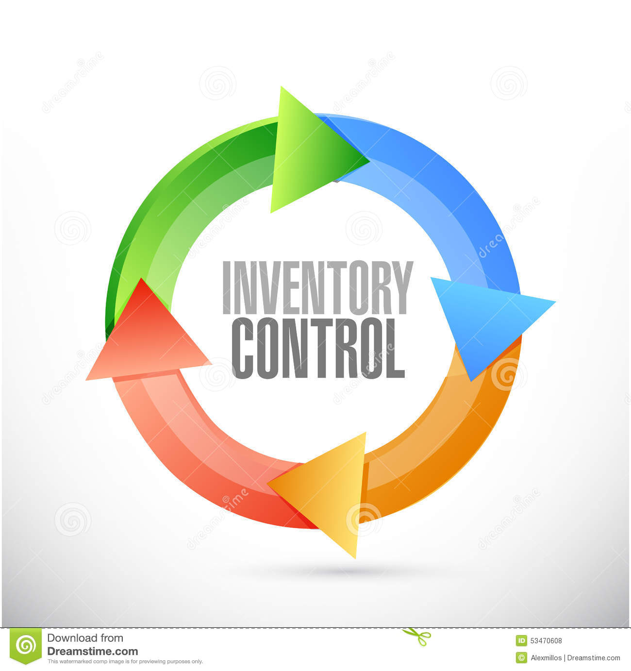 Inventory Control Cycle Sign Concept Stock Illustration