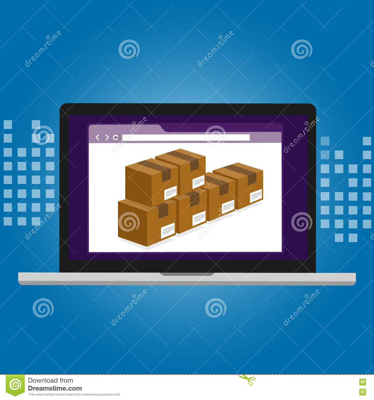 Inventory Management Logistics System Warehouse Technology Box Inside A Computer Diagram Picture Of Software