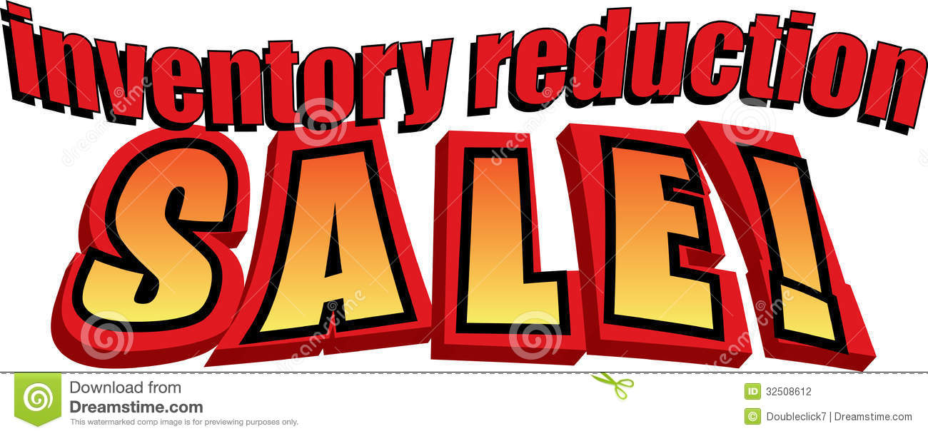 Inventory Reduction Sale! stock vector. Illustration of gradient ...