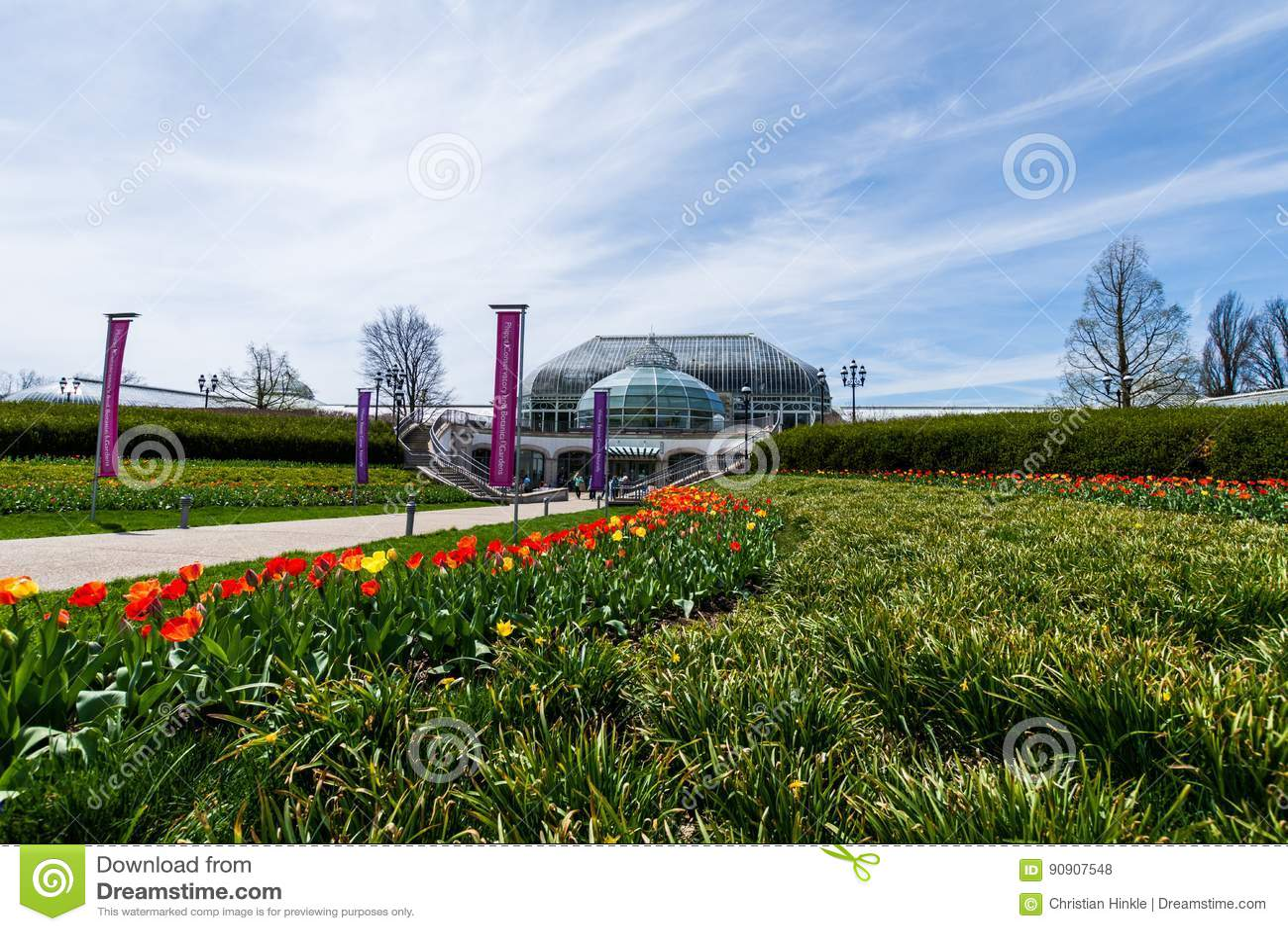 Invernadero de Phipps y jardines botánicos en el pennsylv de Pittsburgh