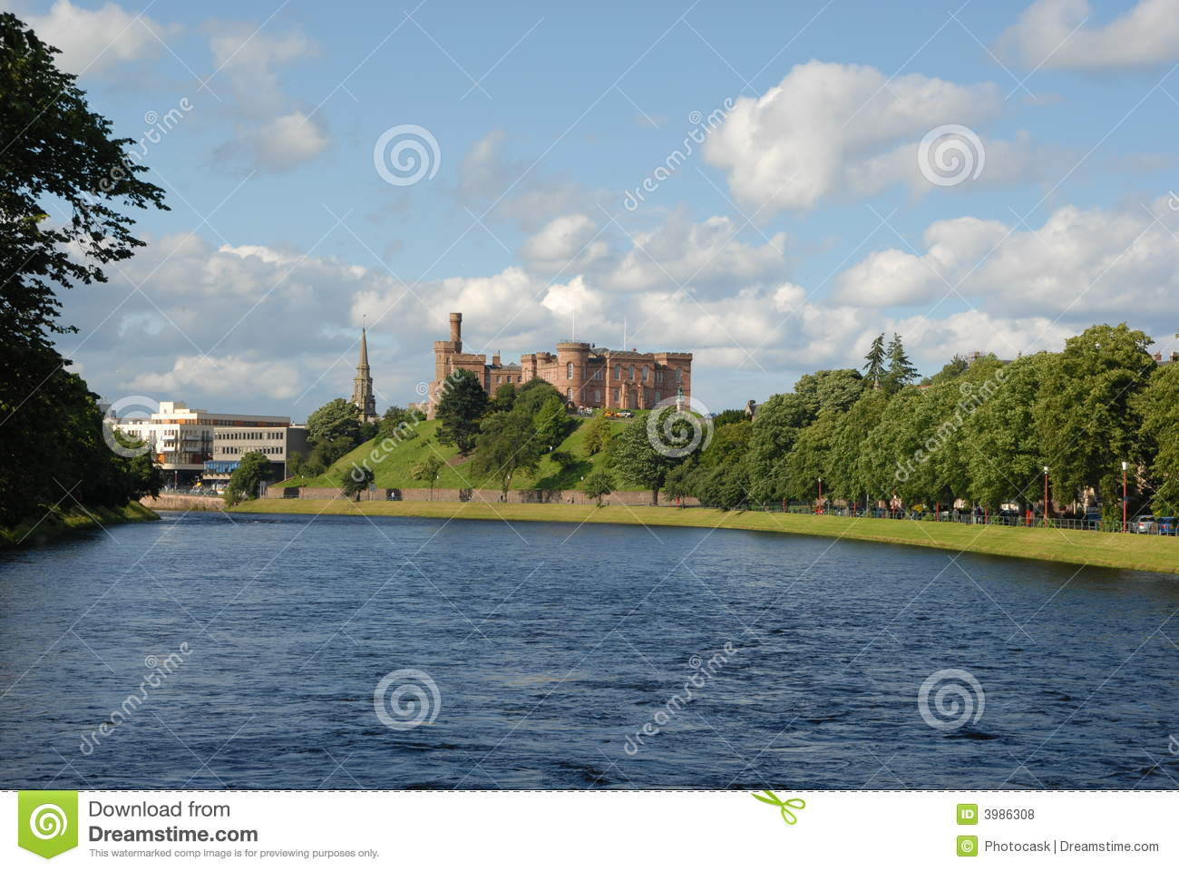 Inverness And River Ness Royalty Free Stock Photos - Image: 3986308