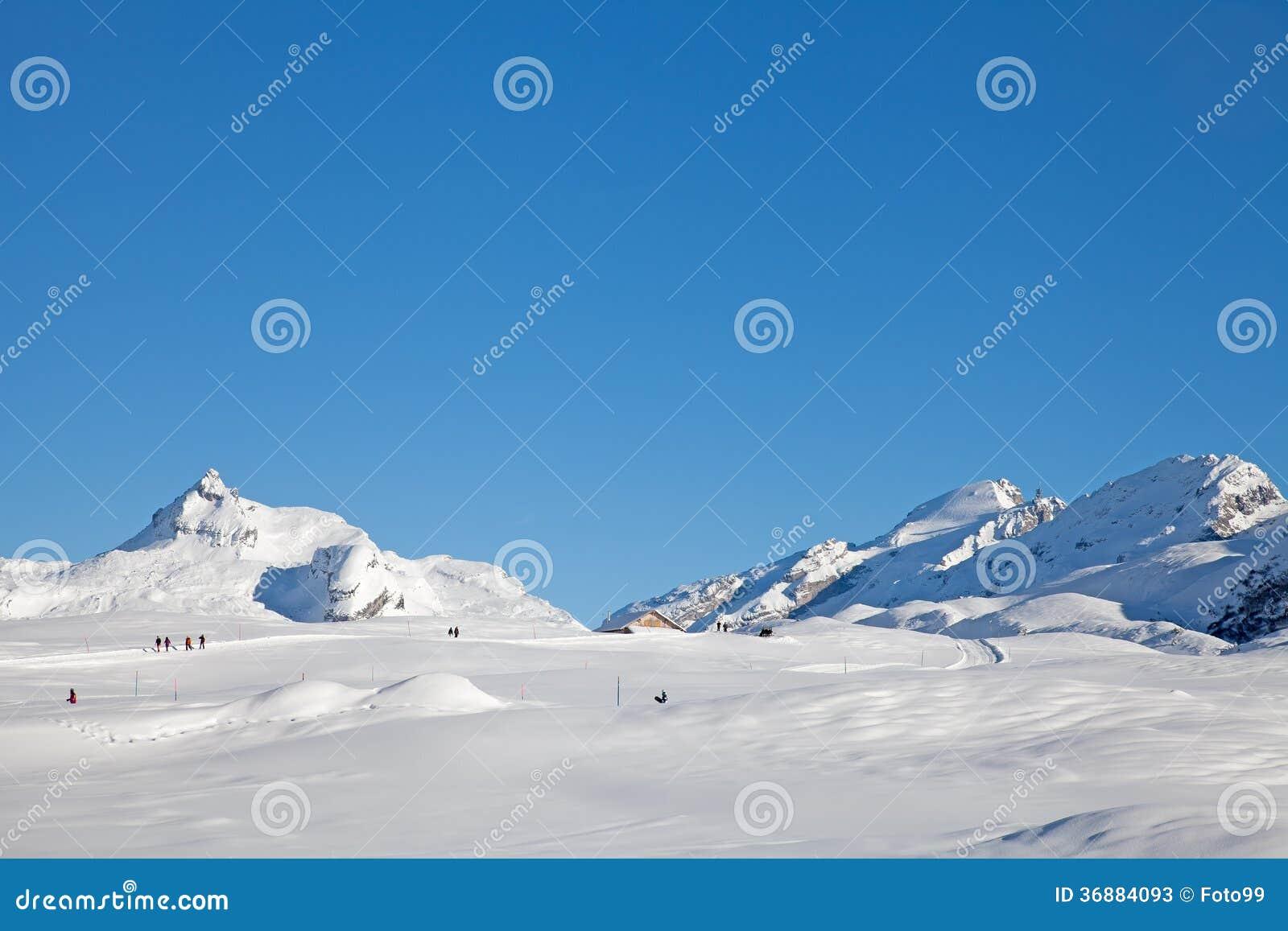 Download Inverno Alpino Che Passeggia Immagine Stock - Immagine di passeggiata, radura: 36884093