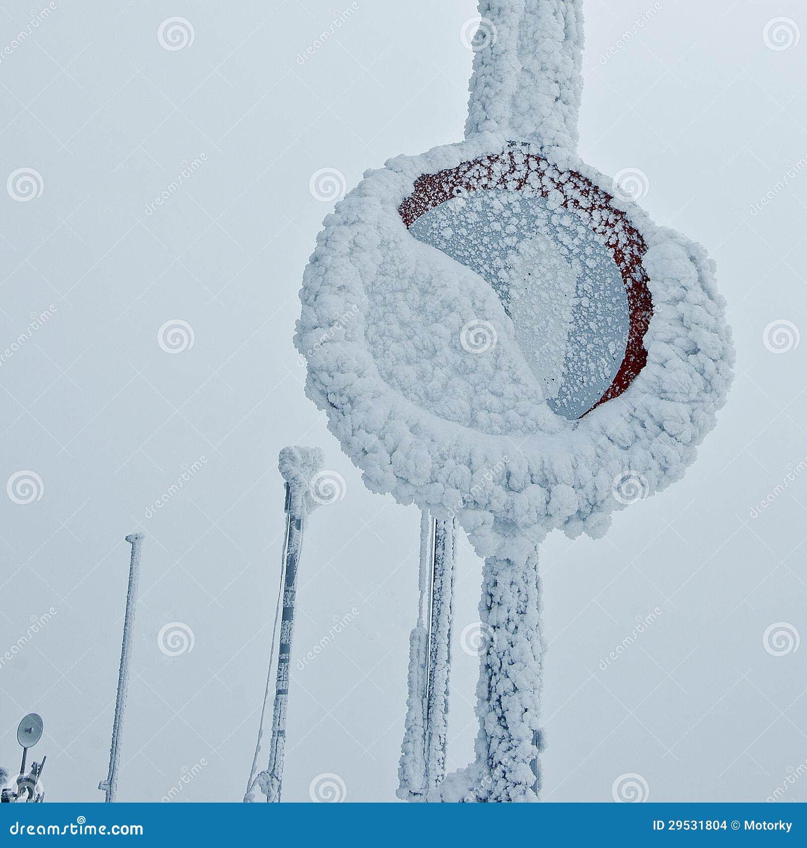 Inverno congelado do sinal