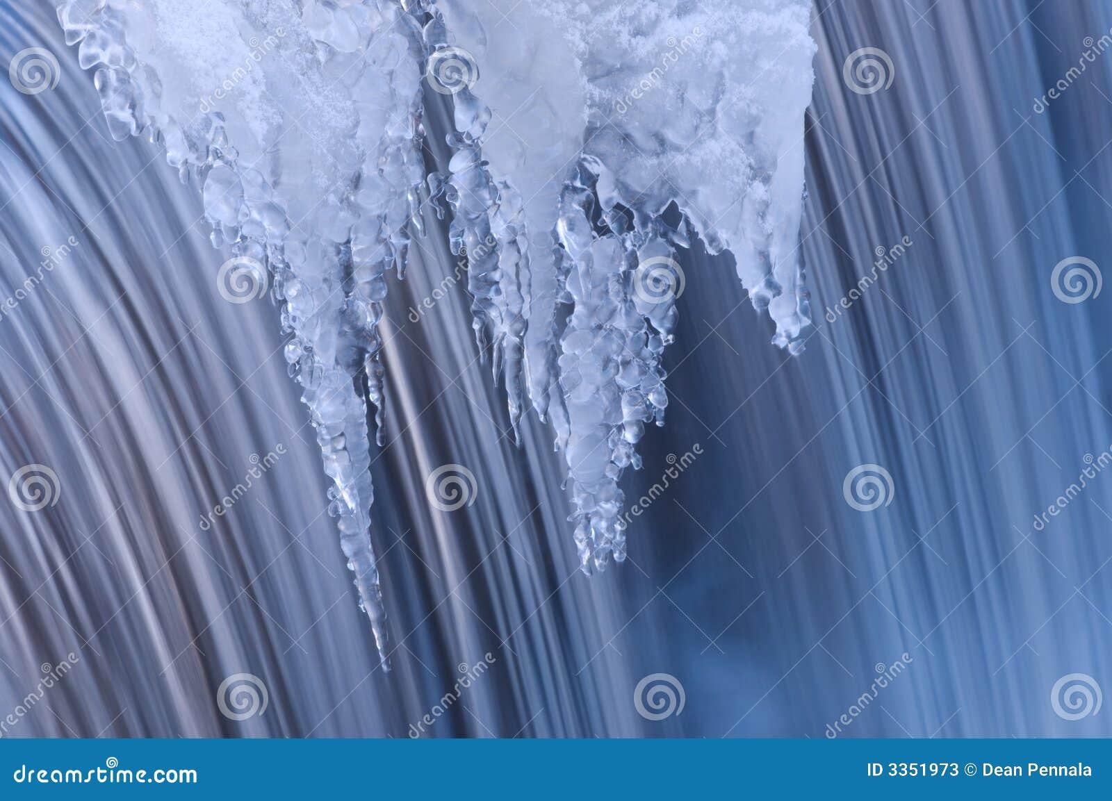 Inverno da cascata da angra de Portage