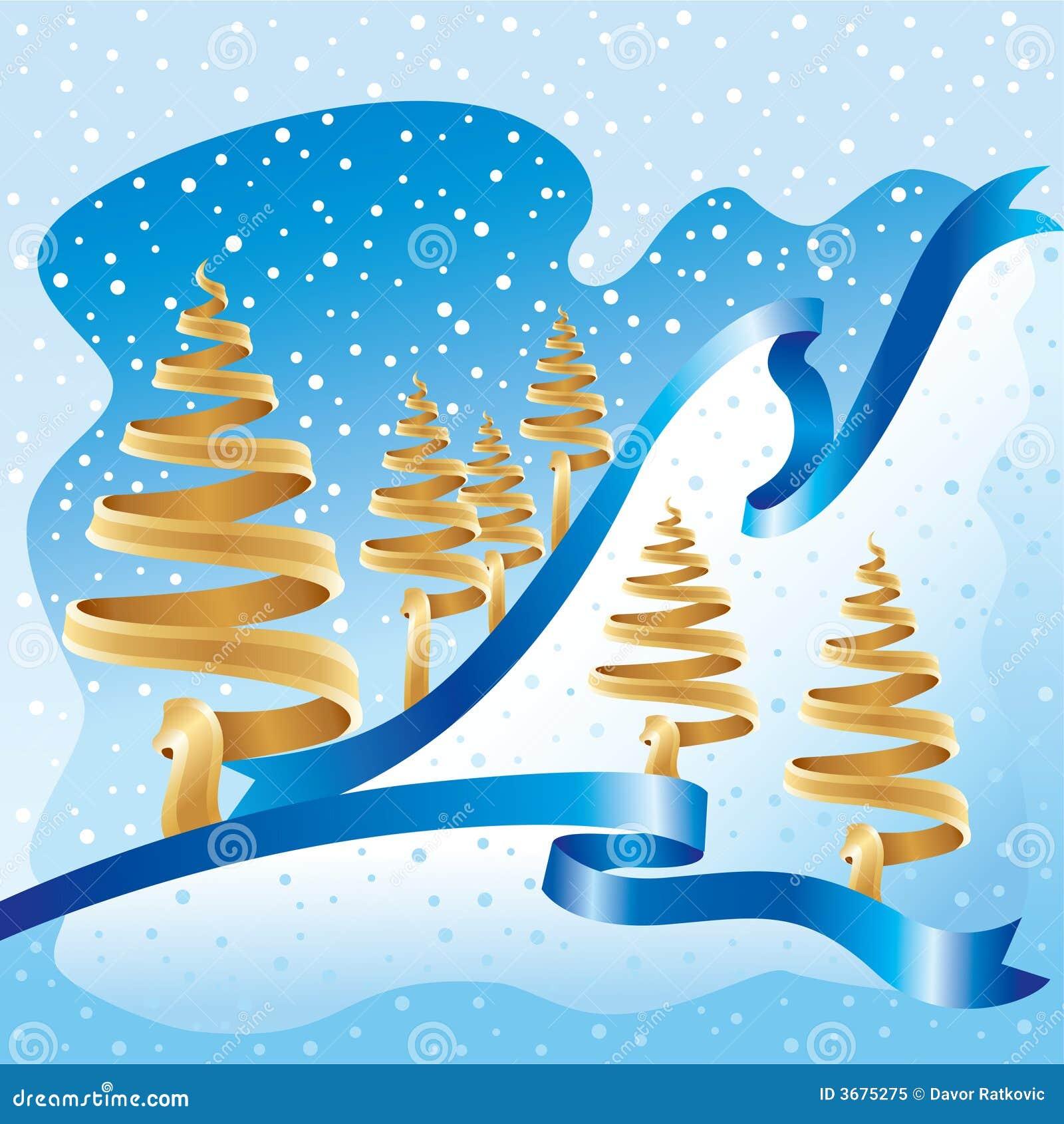 Download Inverno Dell'azzurro Dell'oro Illustrazione Vettoriale - Illustrazione di fluire, cristallo: 3675275