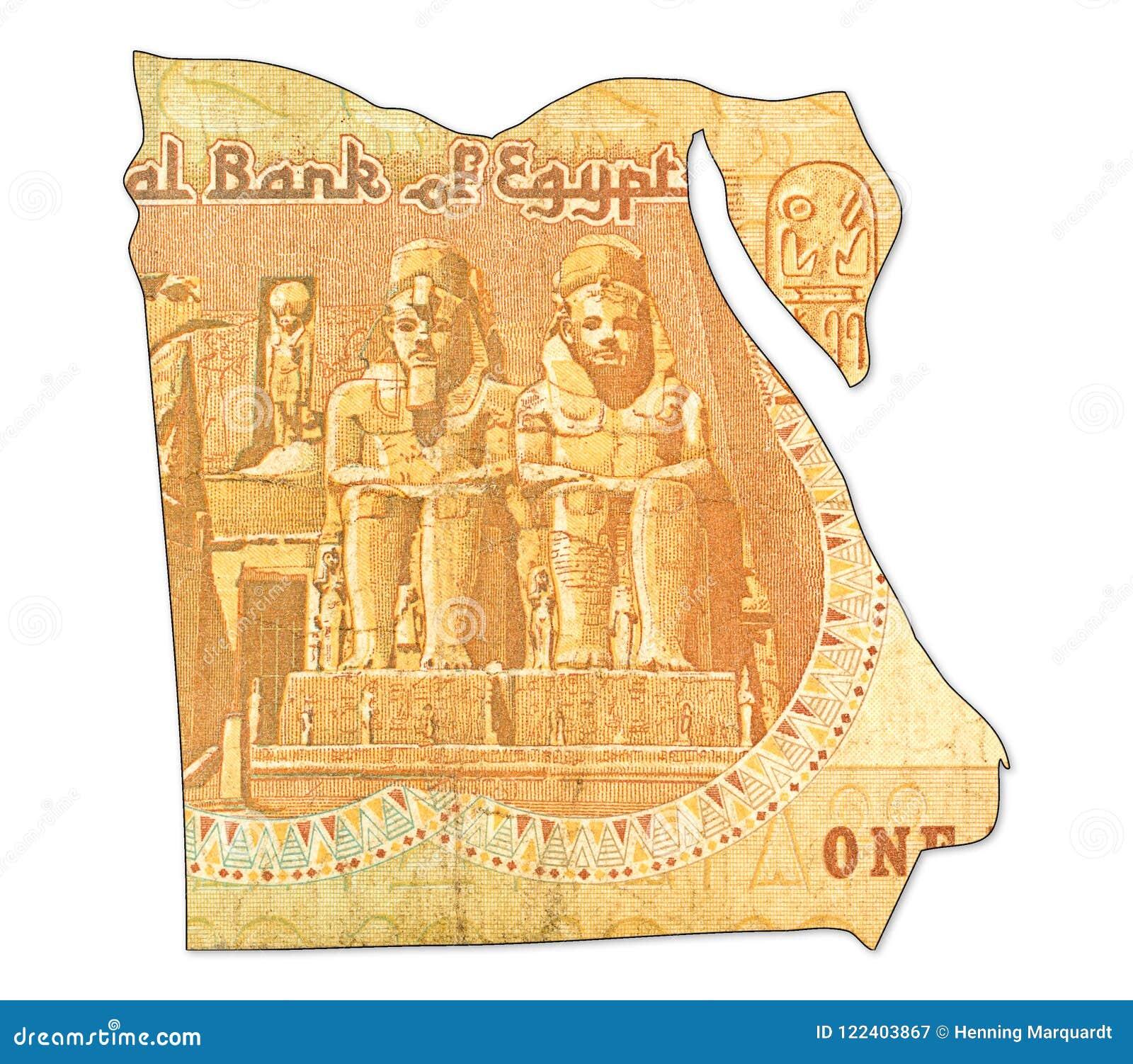 1 Inverse De Billet De Banque De Livre Egyptienne Dans La