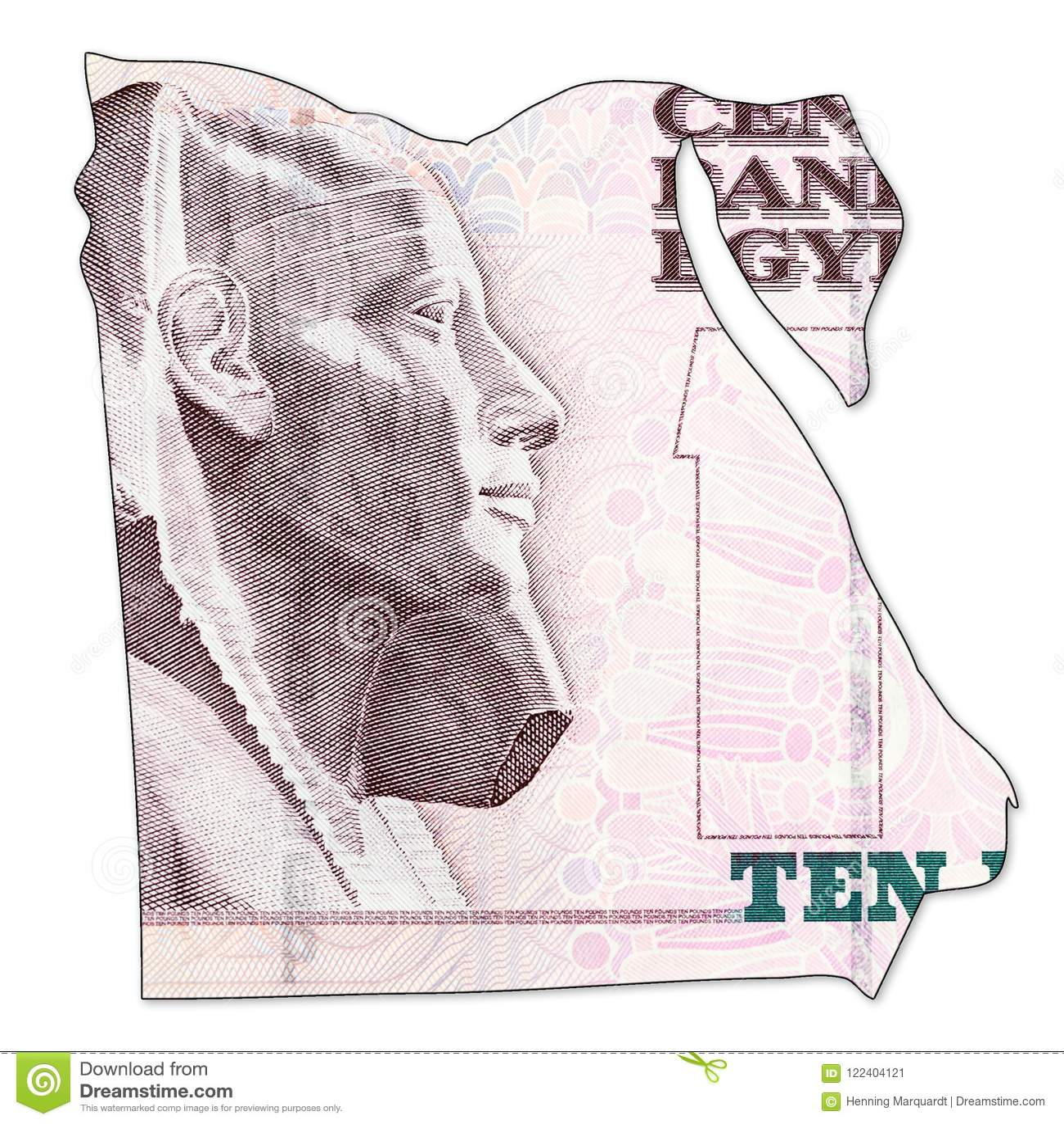 Inverse De Cadre De Billet De Banque De Livre 10 Egyptienne