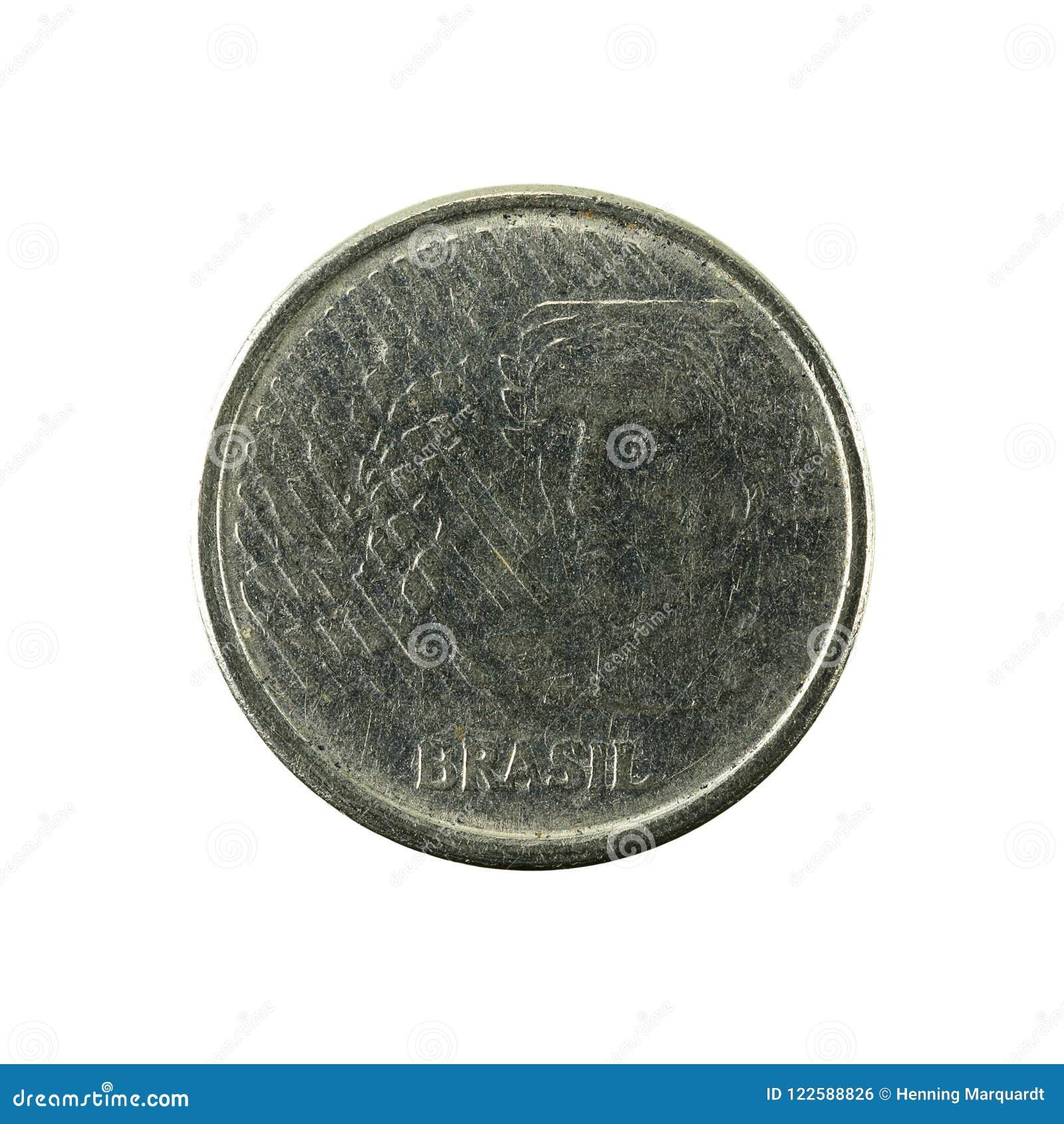 5 inverse de la pièce de monnaie 1996 de centavo de Brésilien