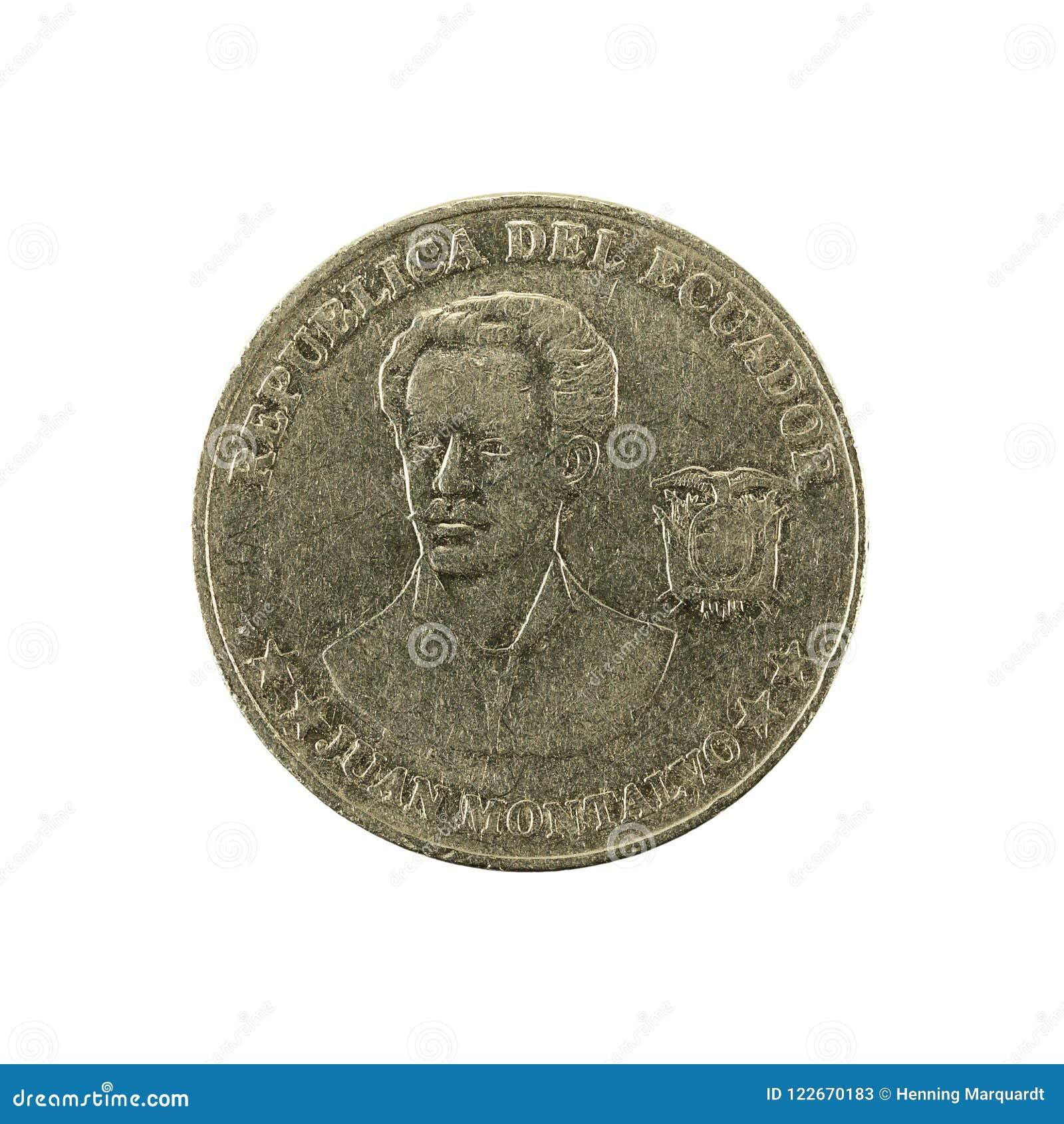 5 inverse de la pièce de monnaie 2000 de centavo d ecuadorian