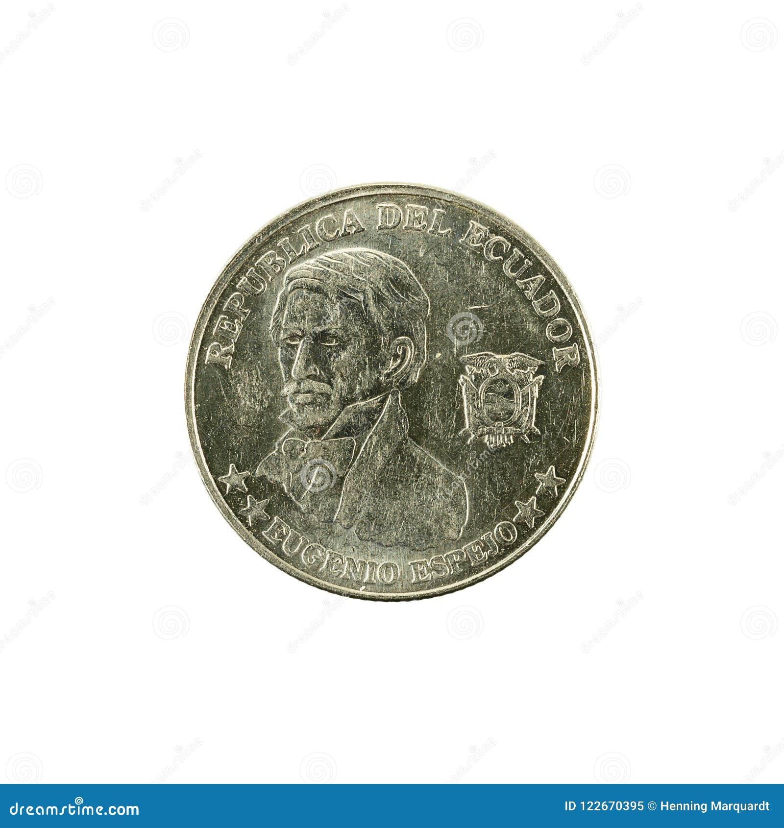 10 inverse de la pièce de monnaie 2000 de centavo d ecuadorian