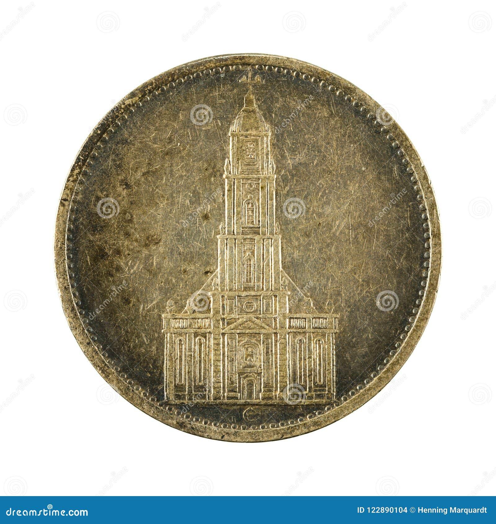 5 inverse de la pièce de monnaie 1934 de mark de royaume d Allemand
