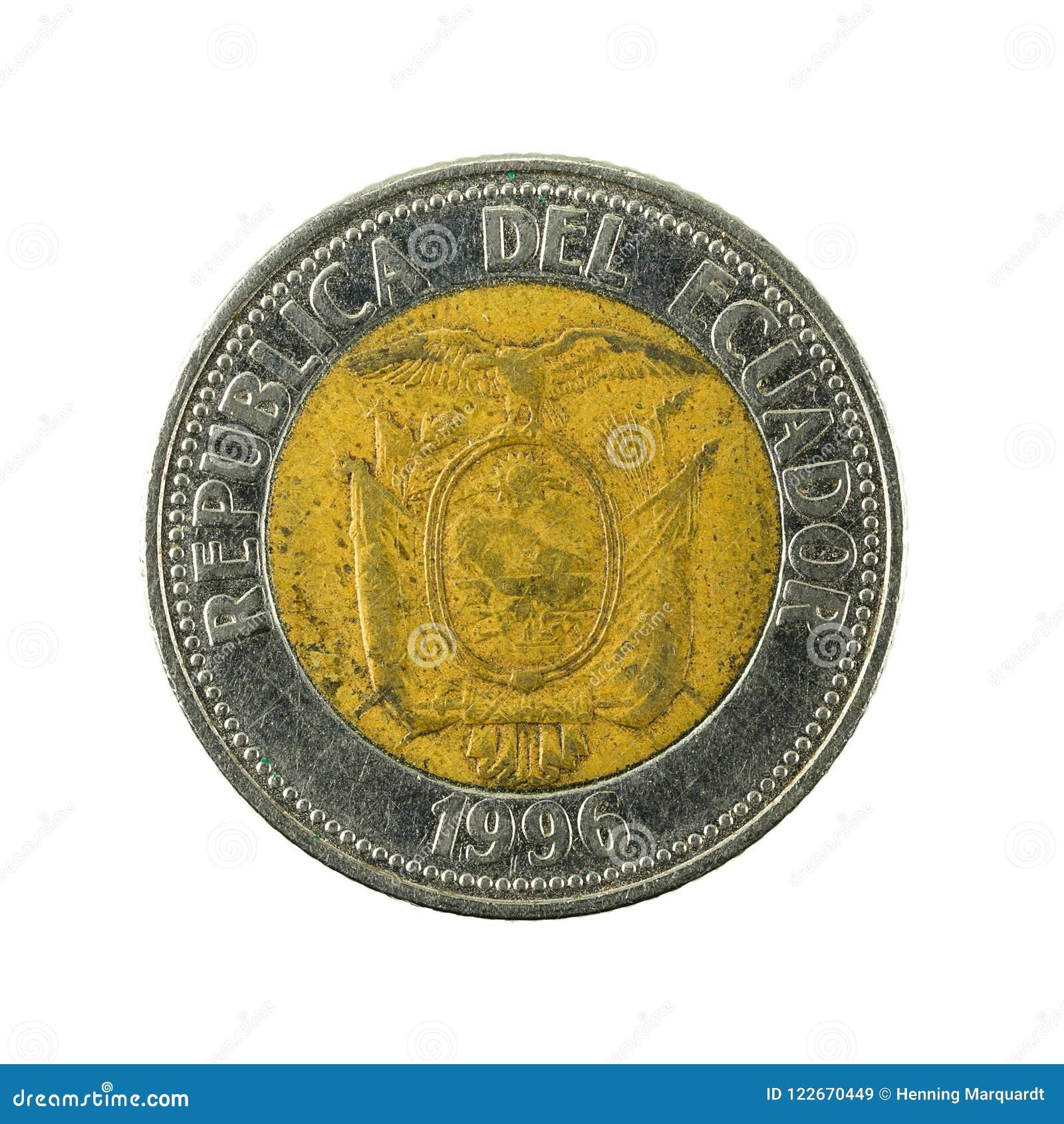 Inverse 1000 de la pièce de monnaie 1996 de sucre d ecuadorian
