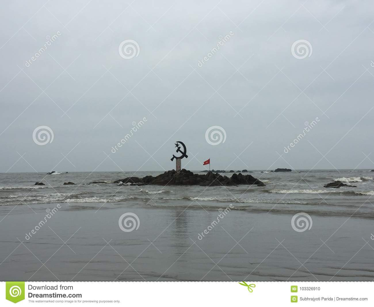 The inverted hammer and sickle symbol of communism off the coast the inverted hammer and sickle symbol of communism off the coast of kunoor biocorpaavc Gallery