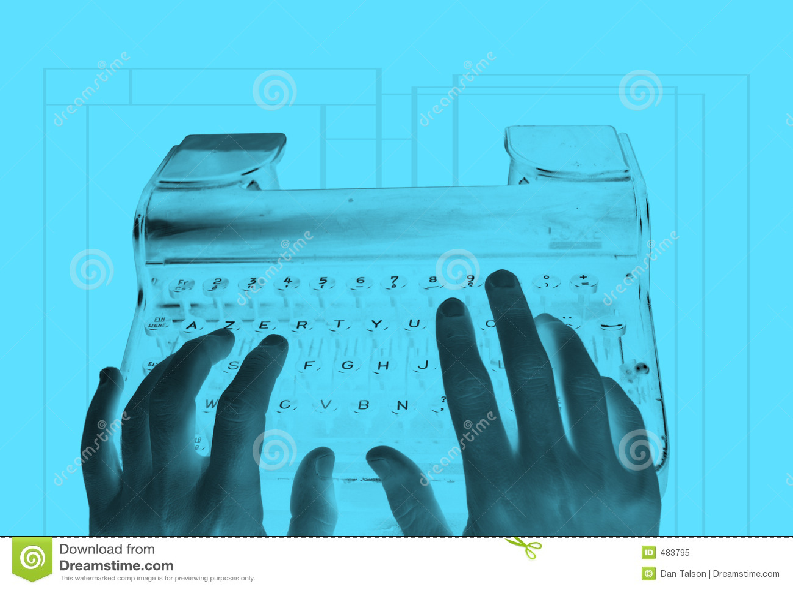 Inverterad retro skrivmaskin