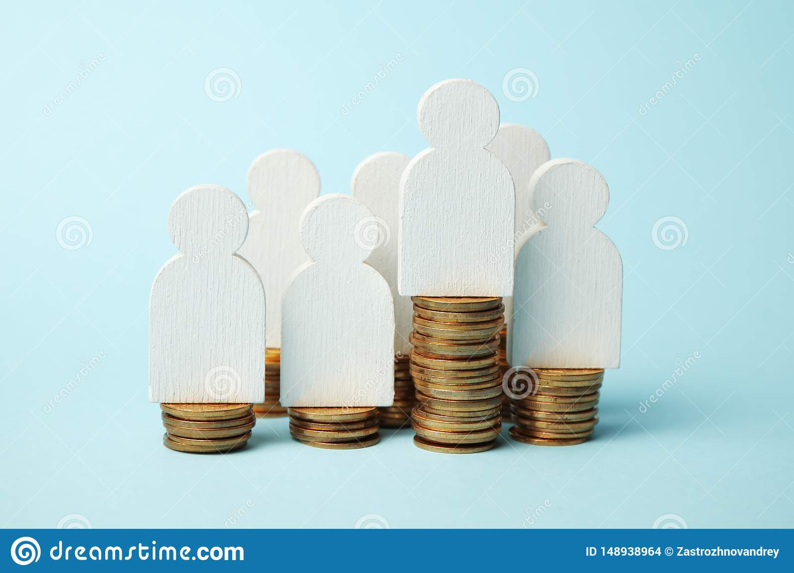 Invest in pension, money payment. Save cash. Growth retirement