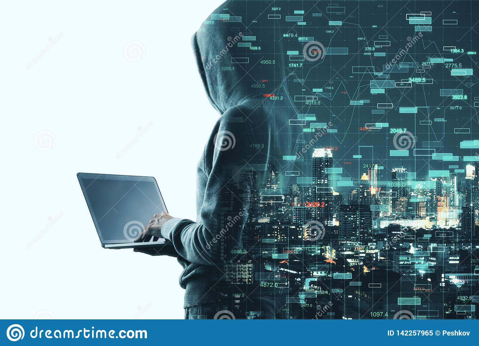 Investeer en phishing concept