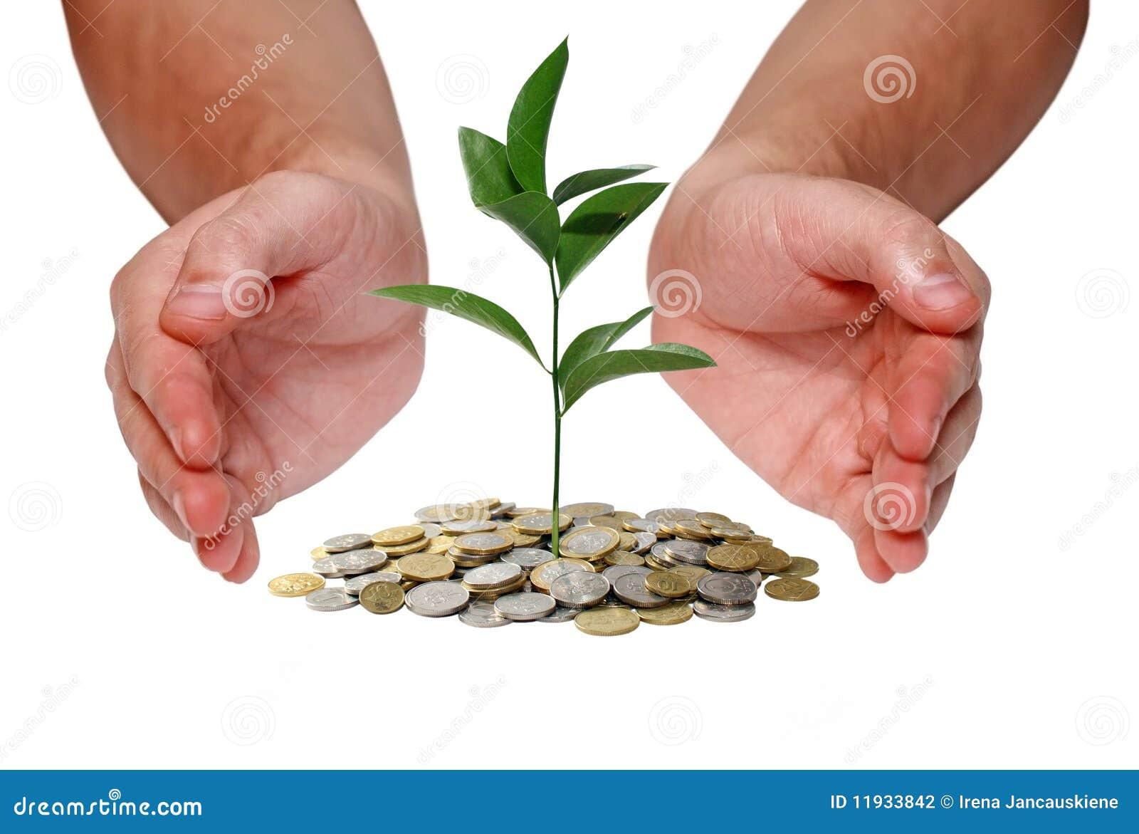 Investeer geldconcept
