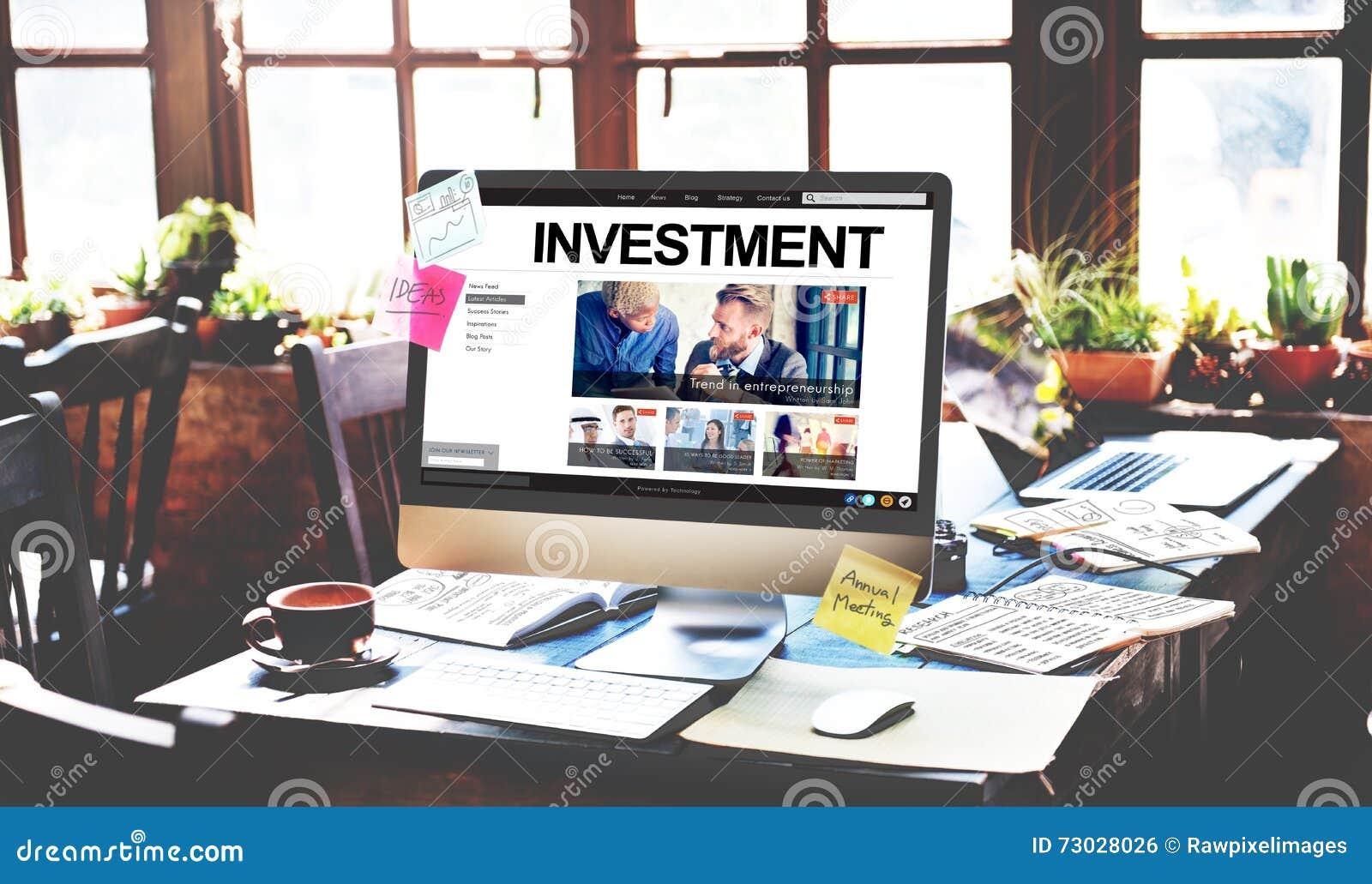 Investeer het Concept van de de Opbrengsteconomie van de Investeringswinst