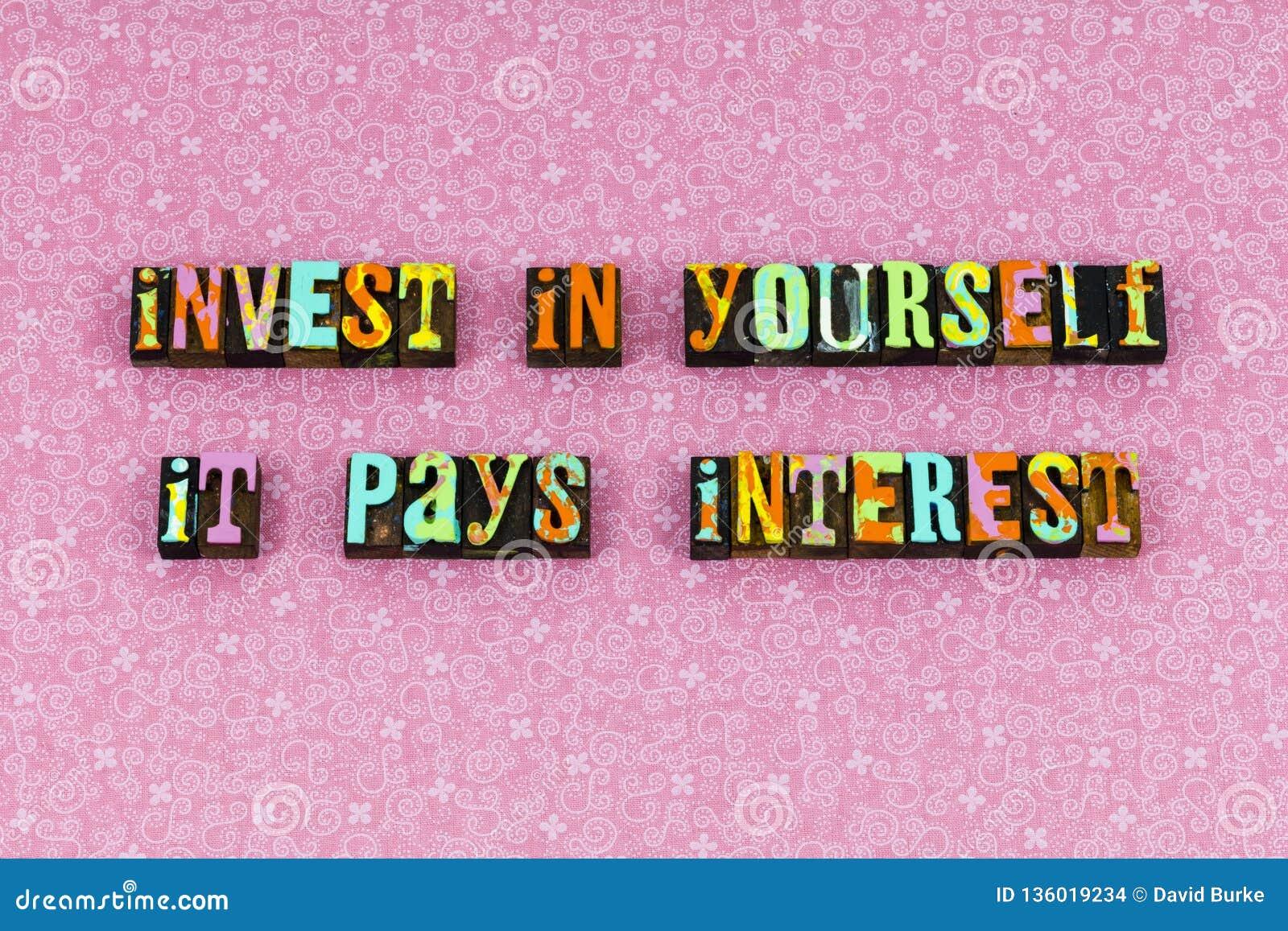 Investeer me het letterzetsel van de rentebetalingliefde