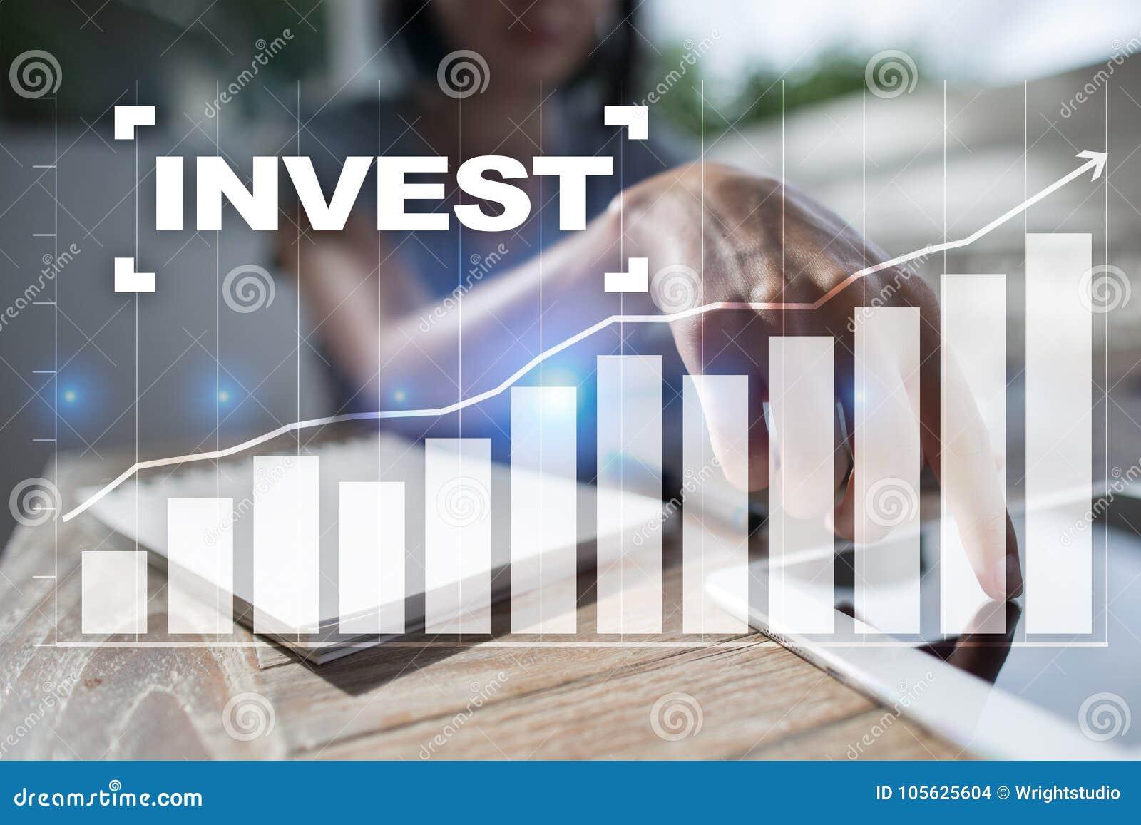 Investeer Rendement van investering Financiële Growth Technologie en bedrijfsconcept