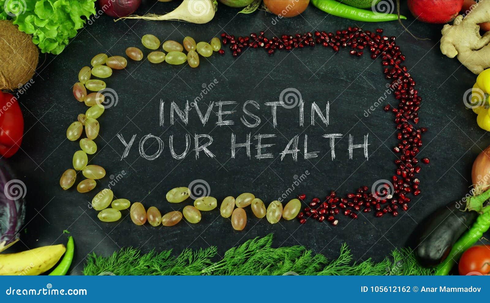 Investeer in uw het eindemotie van het gezondheidsfruit