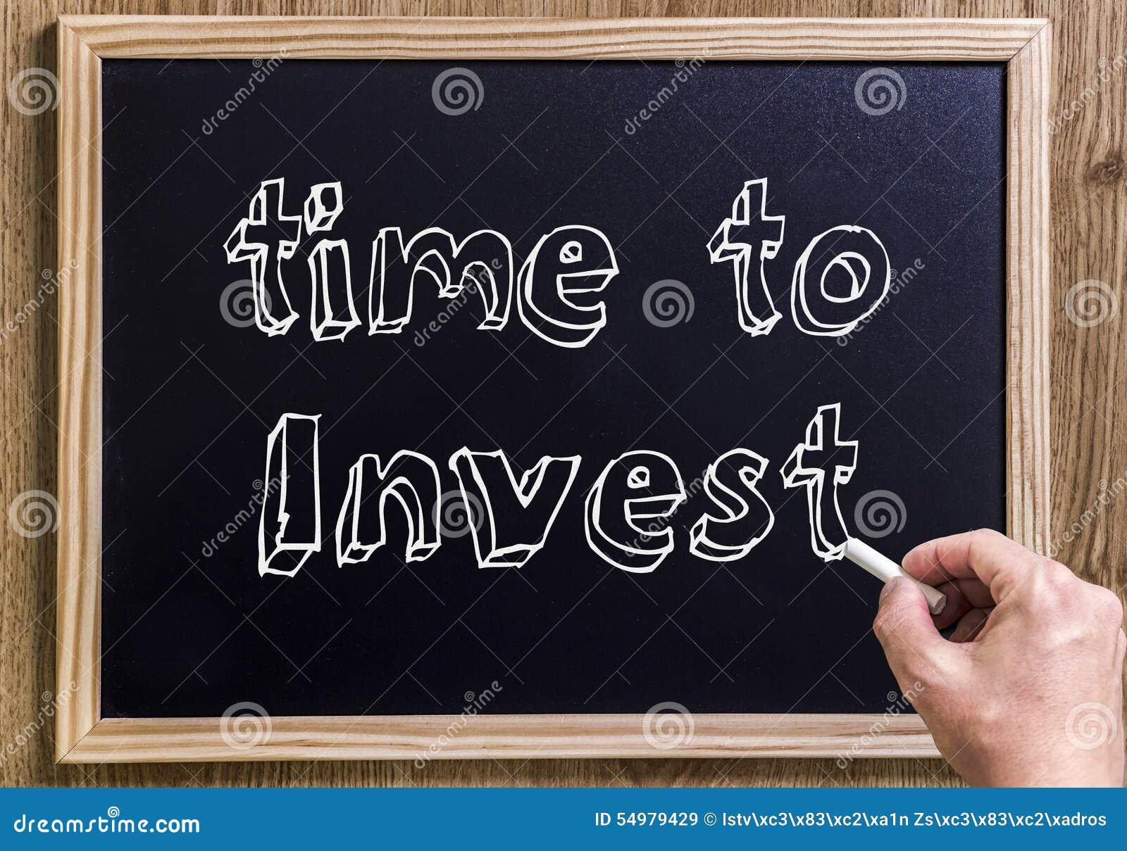 Investera tid till