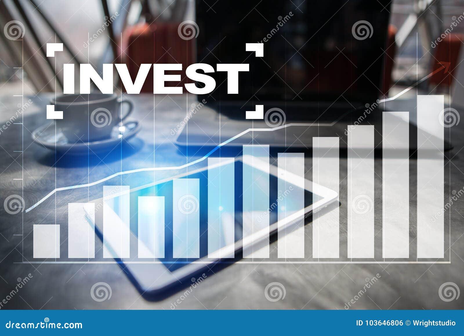 Investieren Sie Anlagenrendite Conceptual Image Technologie- und Geschäftskonzept