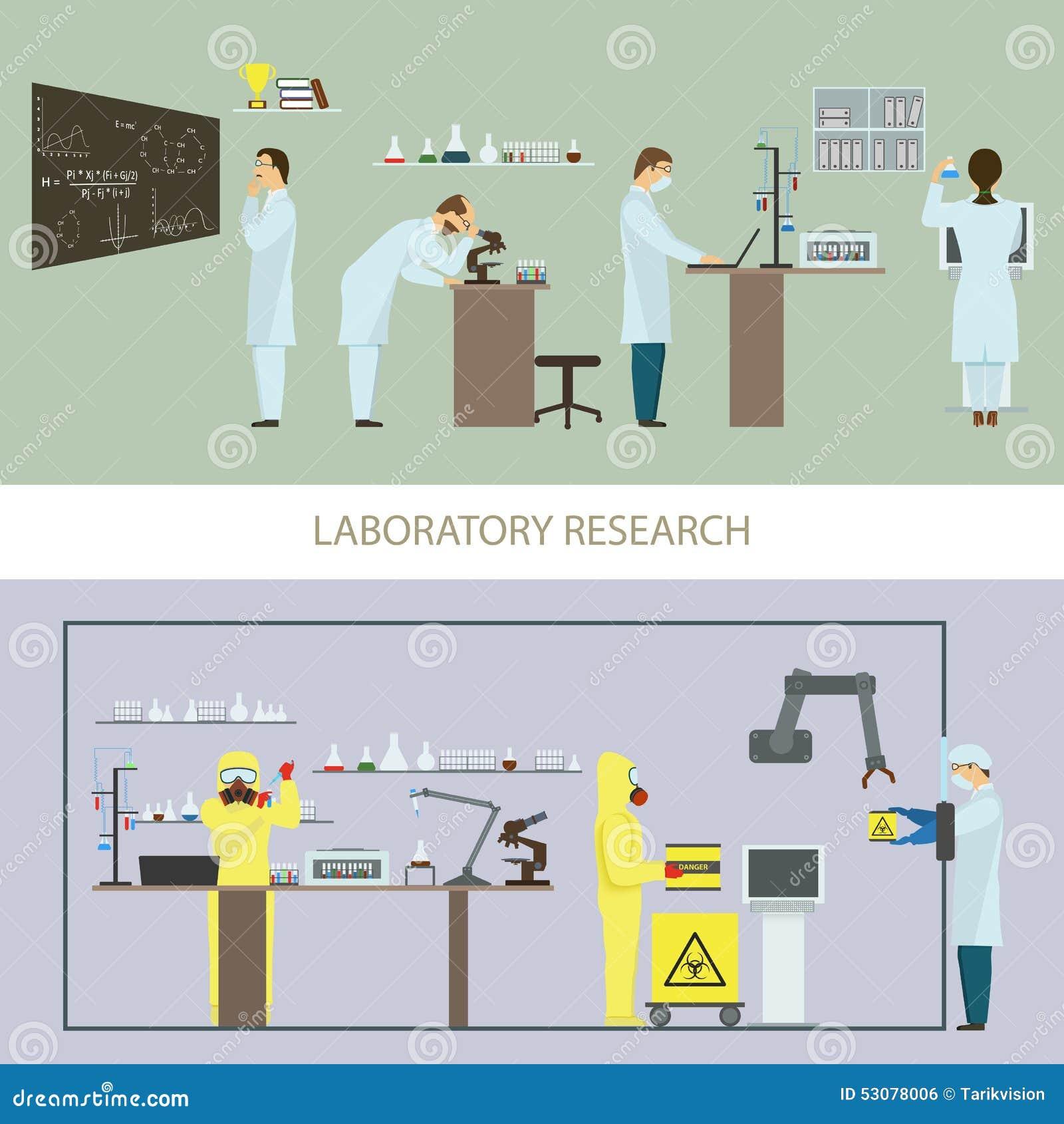 Investigación del laboratorio del grupo de científicos