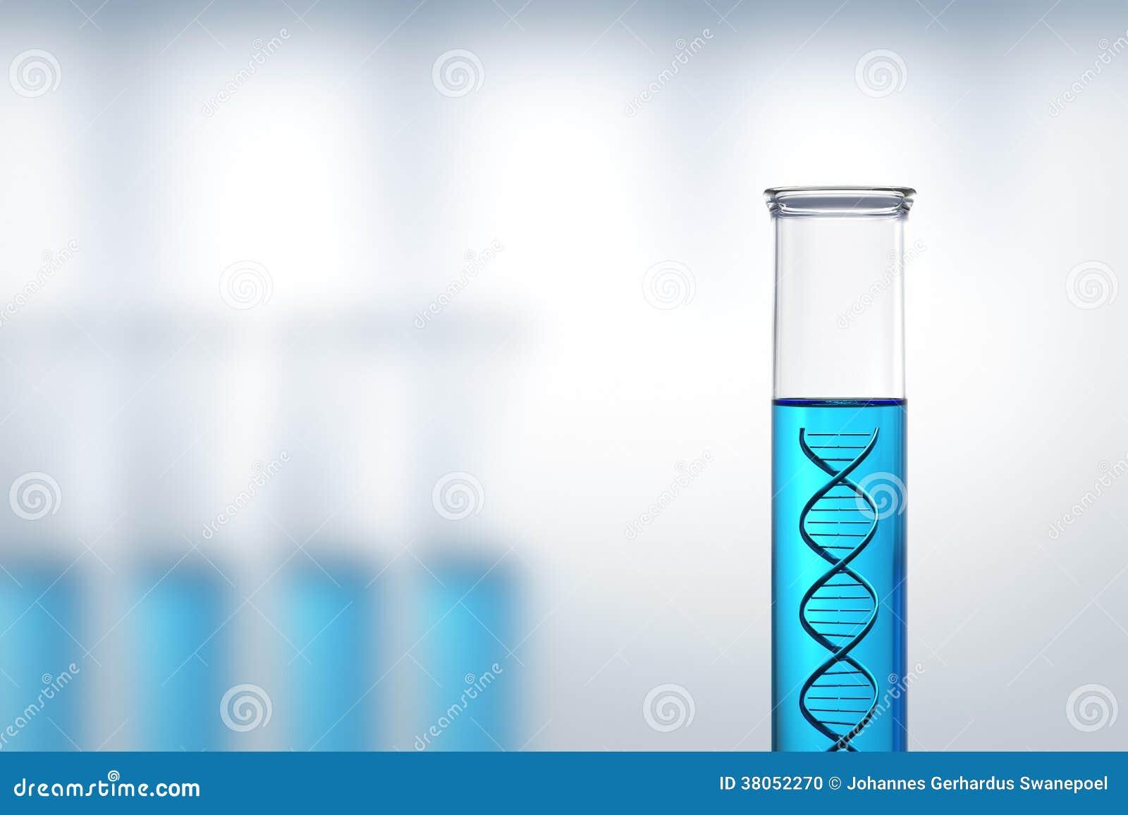 Investigación o prueba de la DNA en un laboratorio