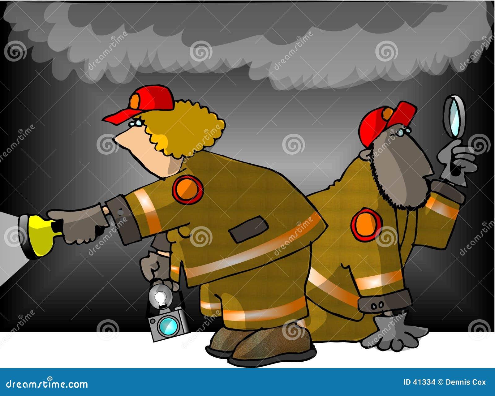 Download Investigadores del fuego stock de ilustración. Ilustración de hombres - 41334