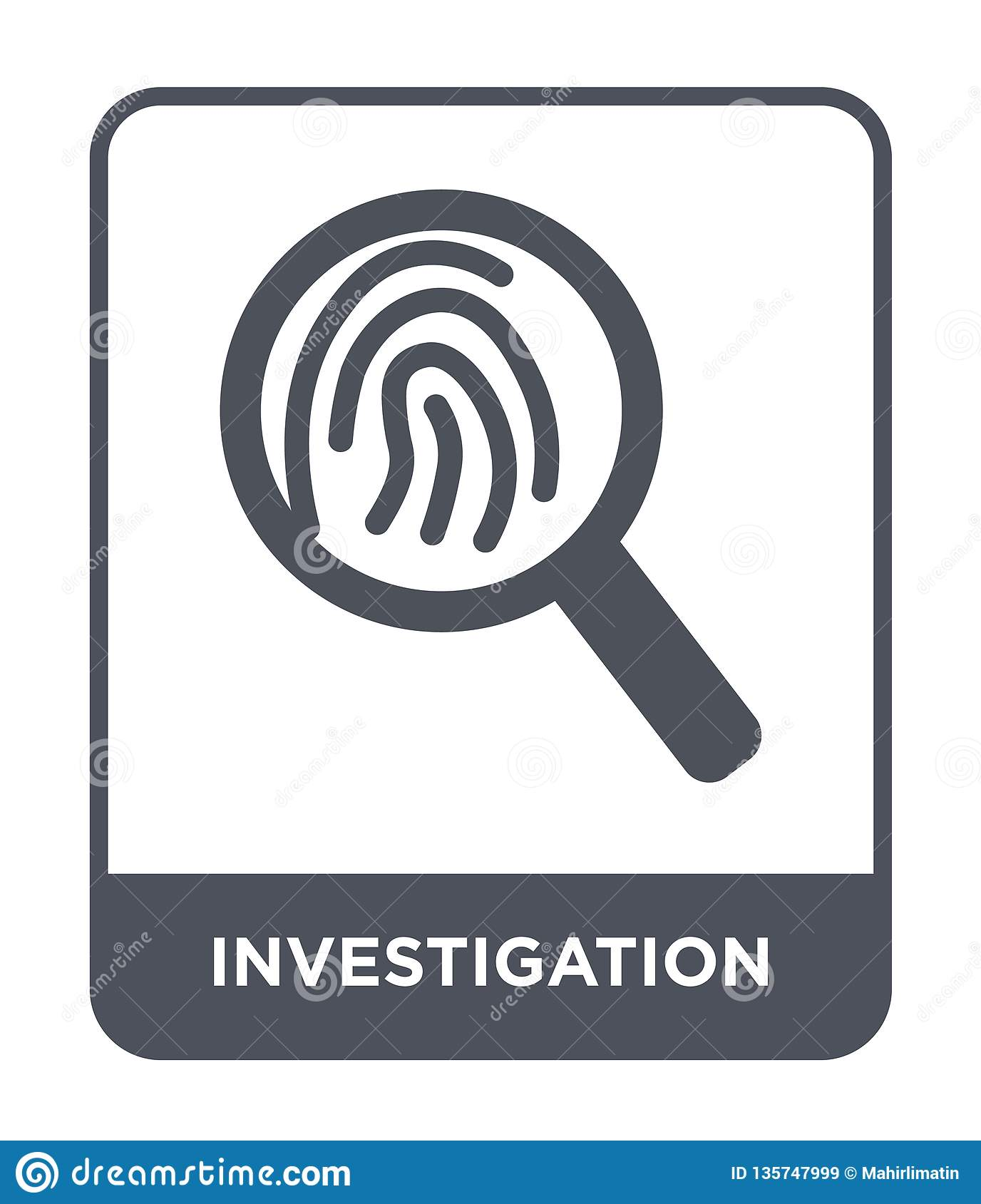 investigation icon in trendy design style. investigation icon isolated on white background. investigation vector icon simple and
