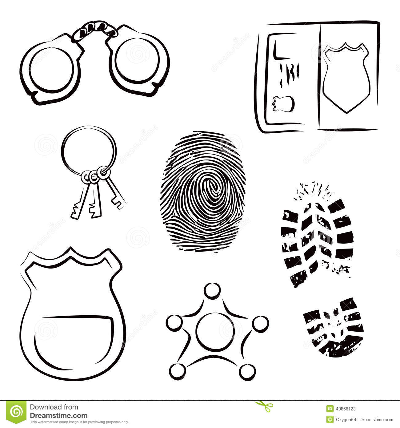 investigation icons stock vector image 40866123