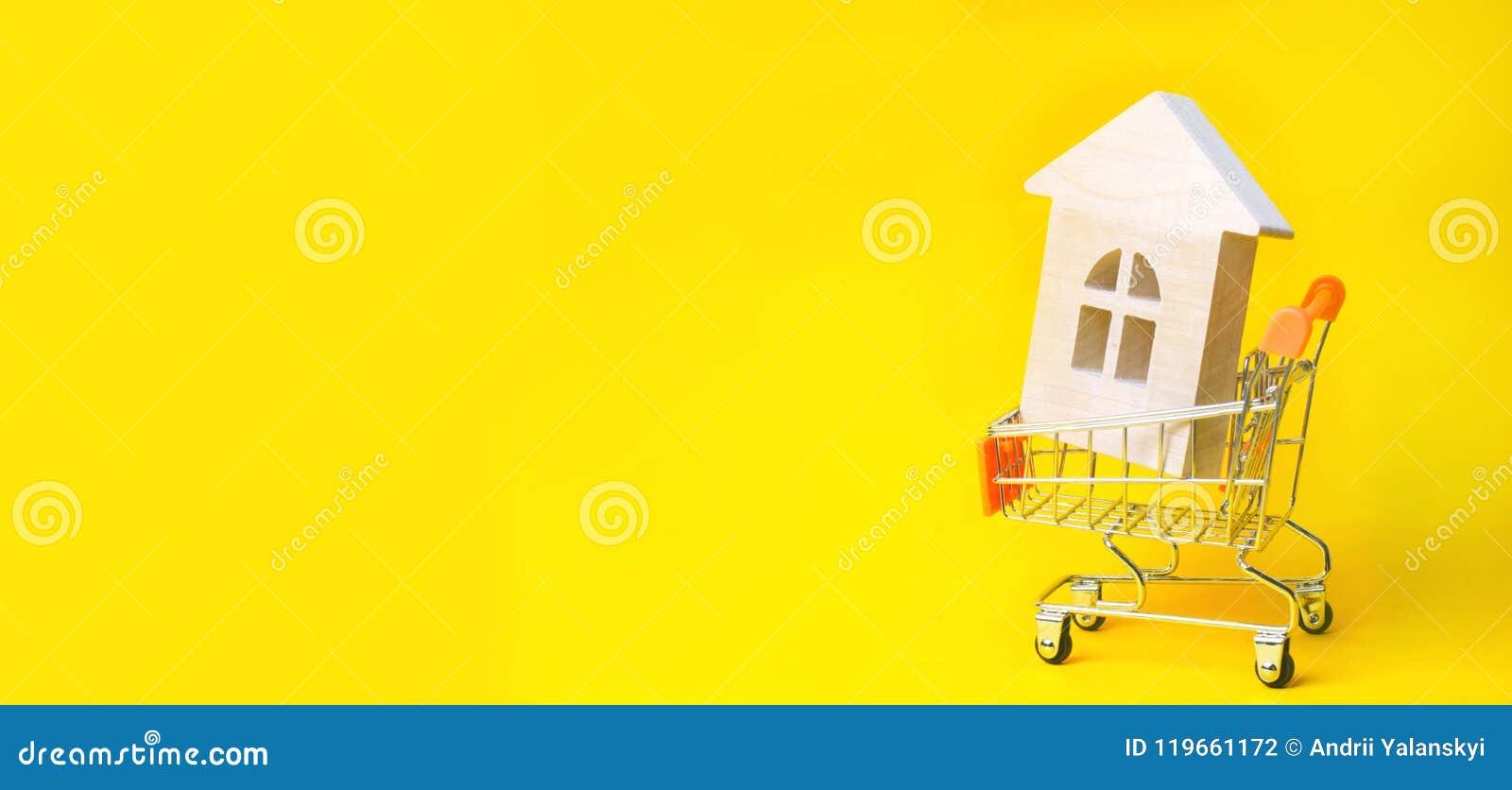 Investimento da propriedade e conceito financeiro da hipoteca da casa comprando, alugando e vendendo apartamentos Casas dos bens