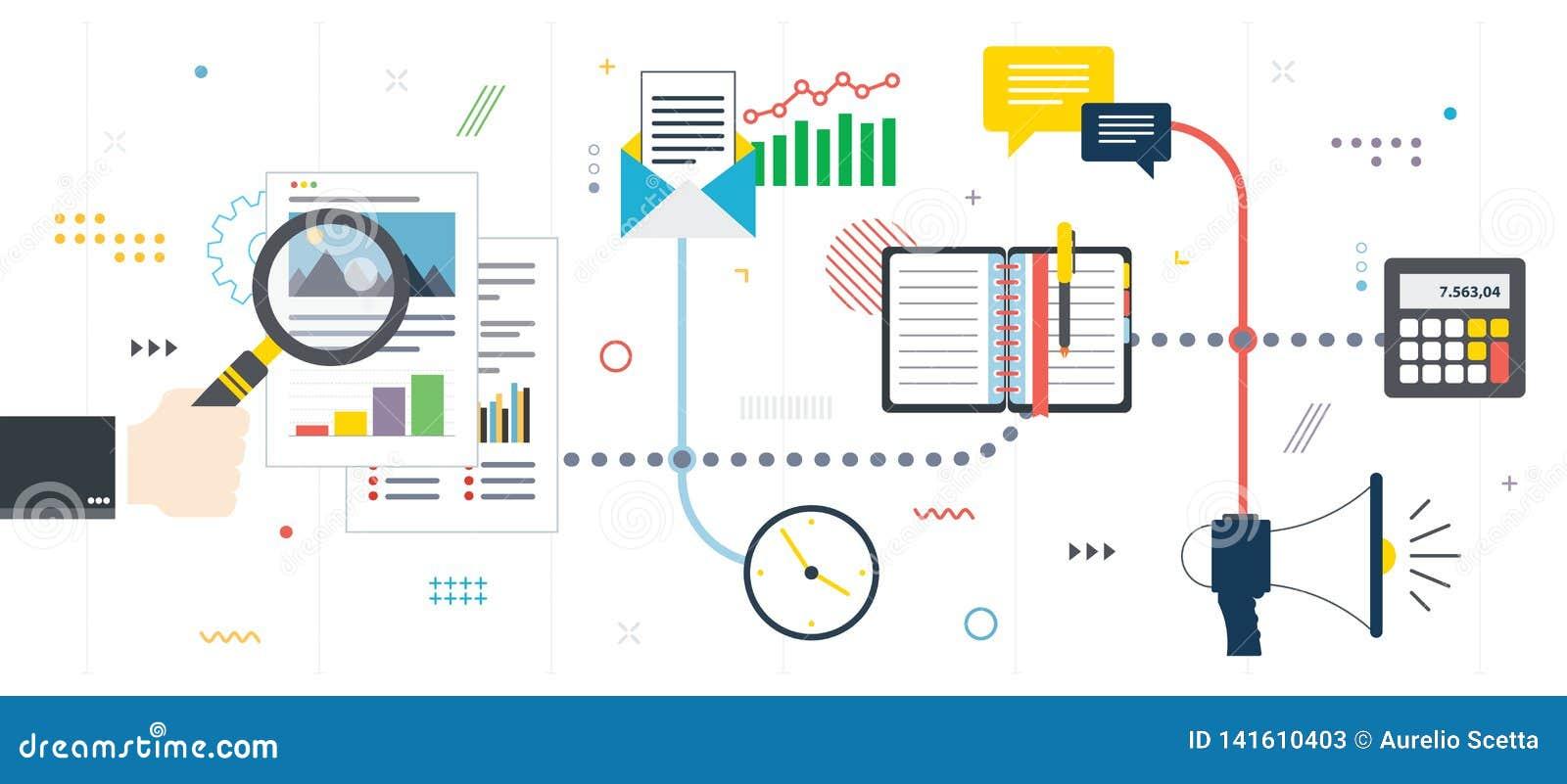 Investimento nel nuovi affare, analisi del grafico e rapporto