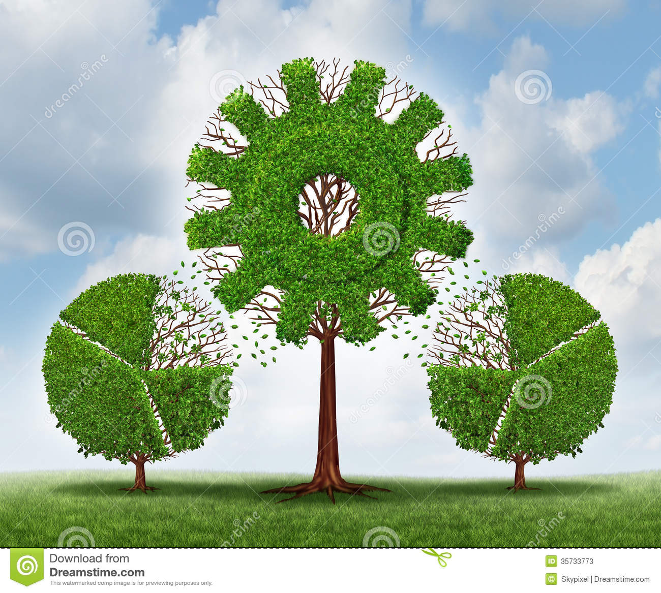 Finance Tree: Investing In A Business Stock Illustration. Image Of