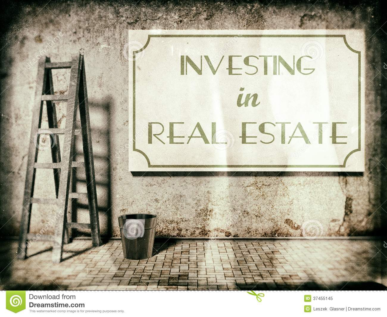 Investing In Real Estate On Wall Royalty Free Stock Photo ...