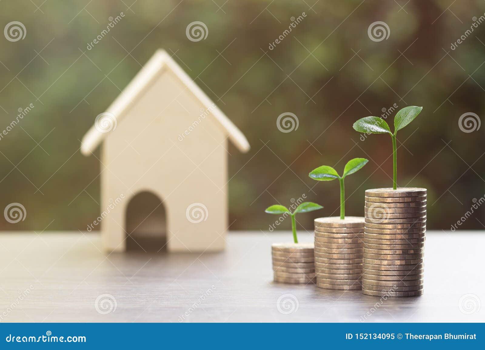 Investissement de propriété, prêt immobilier, hypothèque inverse, affaires et concept financier et économisant d argent Croissanc