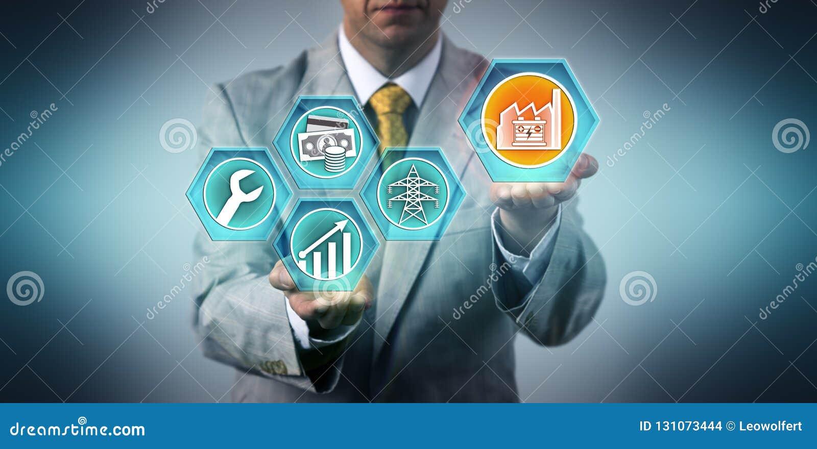 Investisseur industriel projetant la croissance pour ESaaS