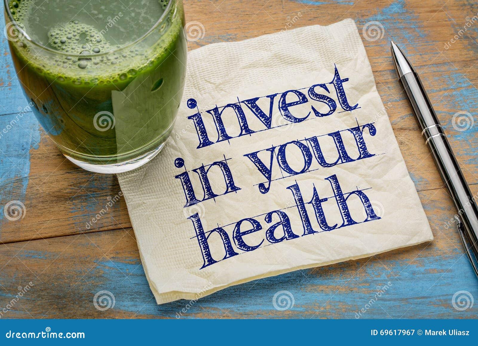 Investissez dans votre conseil de santé